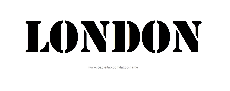 London Name Tattoo Designs