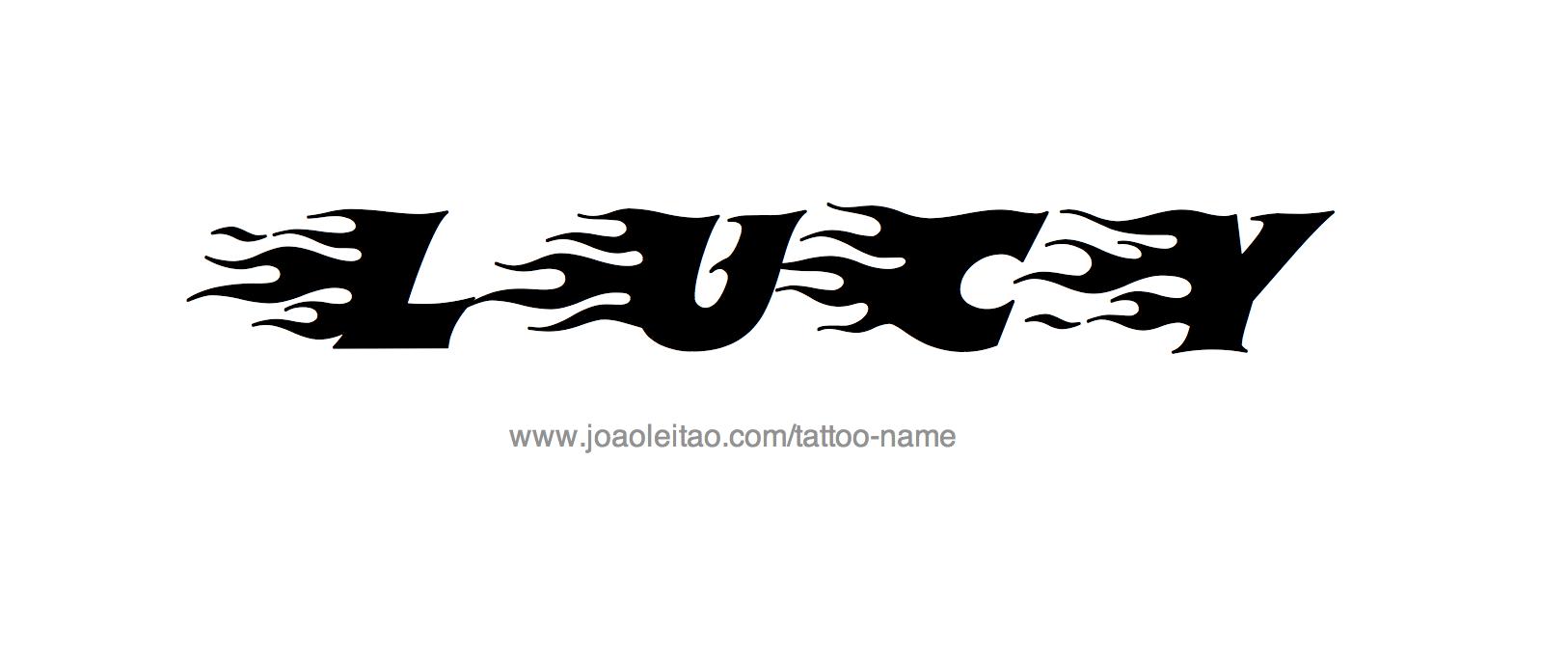 tattoo design female name lucy 23 png. Black Bedroom Furniture Sets. Home Design Ideas