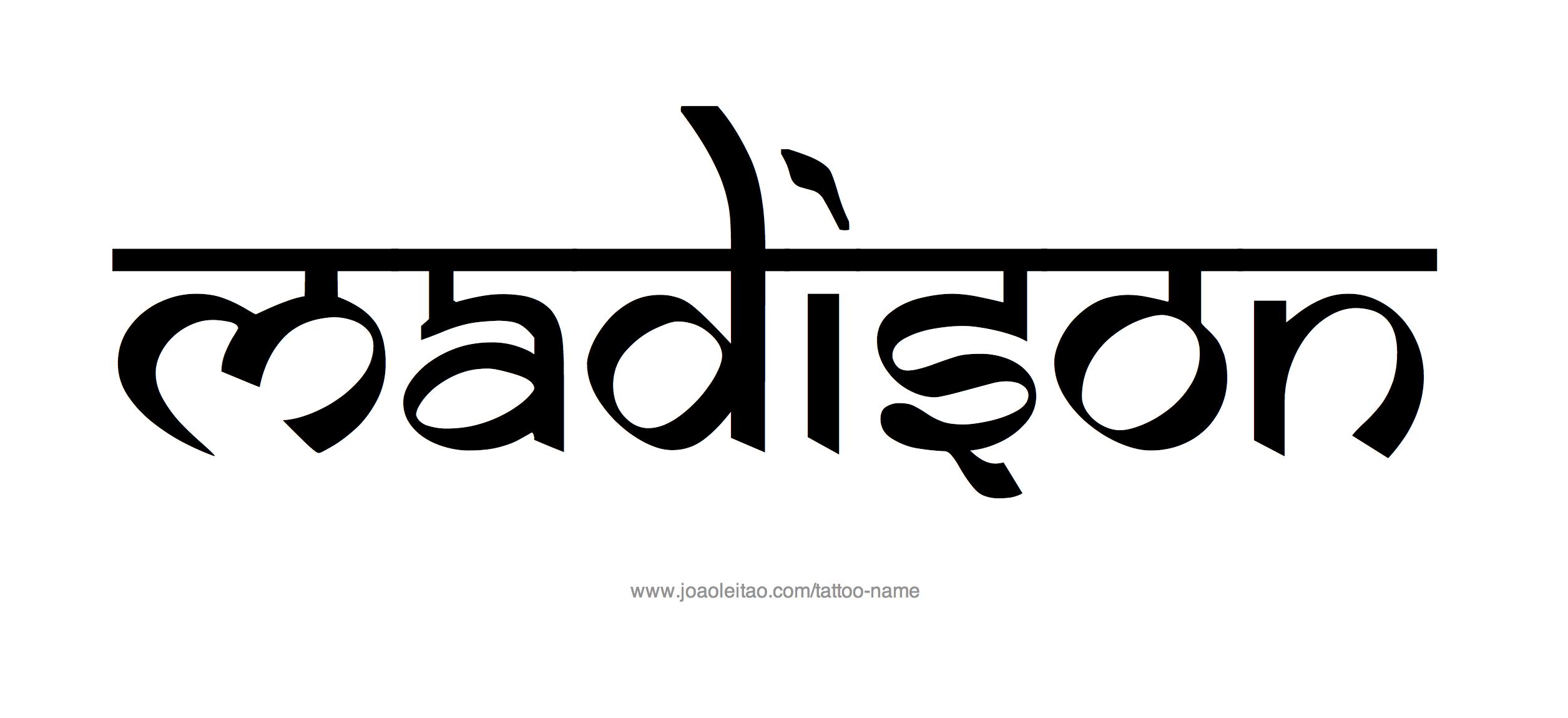 Name: Madison Name Tattoo Designs