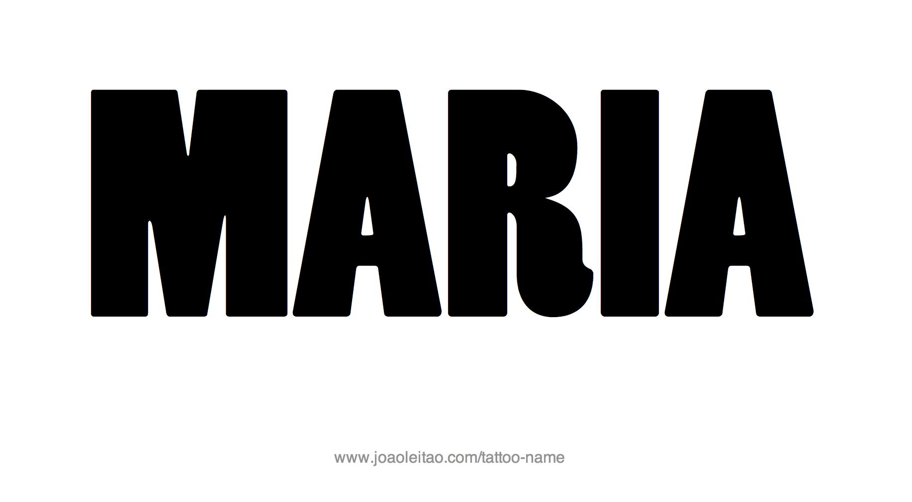 tattoo design female name maria 10 png. Black Bedroom Furniture Sets. Home Design Ideas
