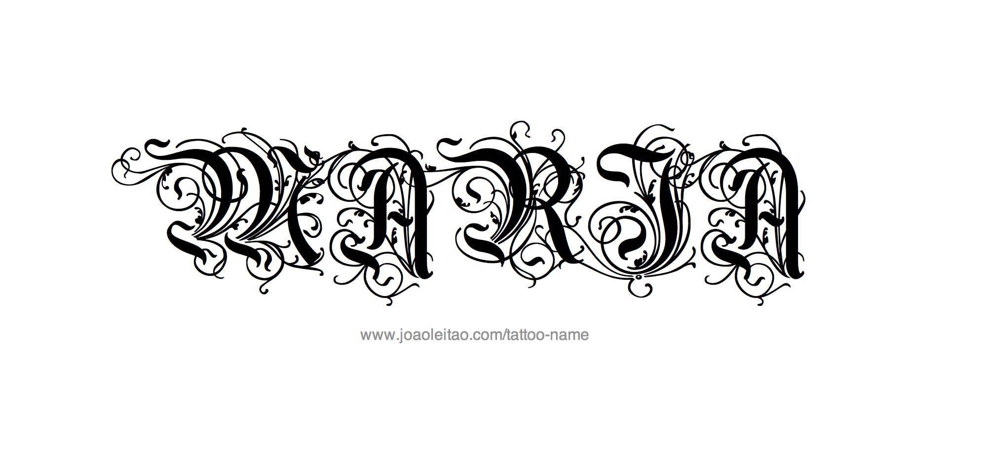 maria names directory tattoo design female name maria 20 22 png. Black Bedroom Furniture Sets. Home Design Ideas