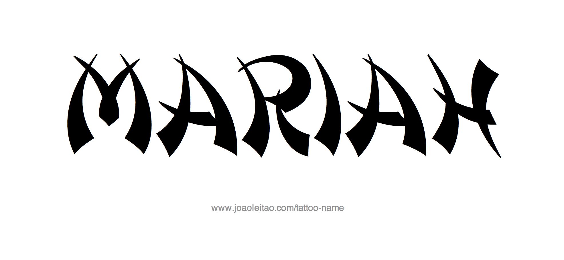 Car Rental Websites >> Mariah Name Tattoo Designs