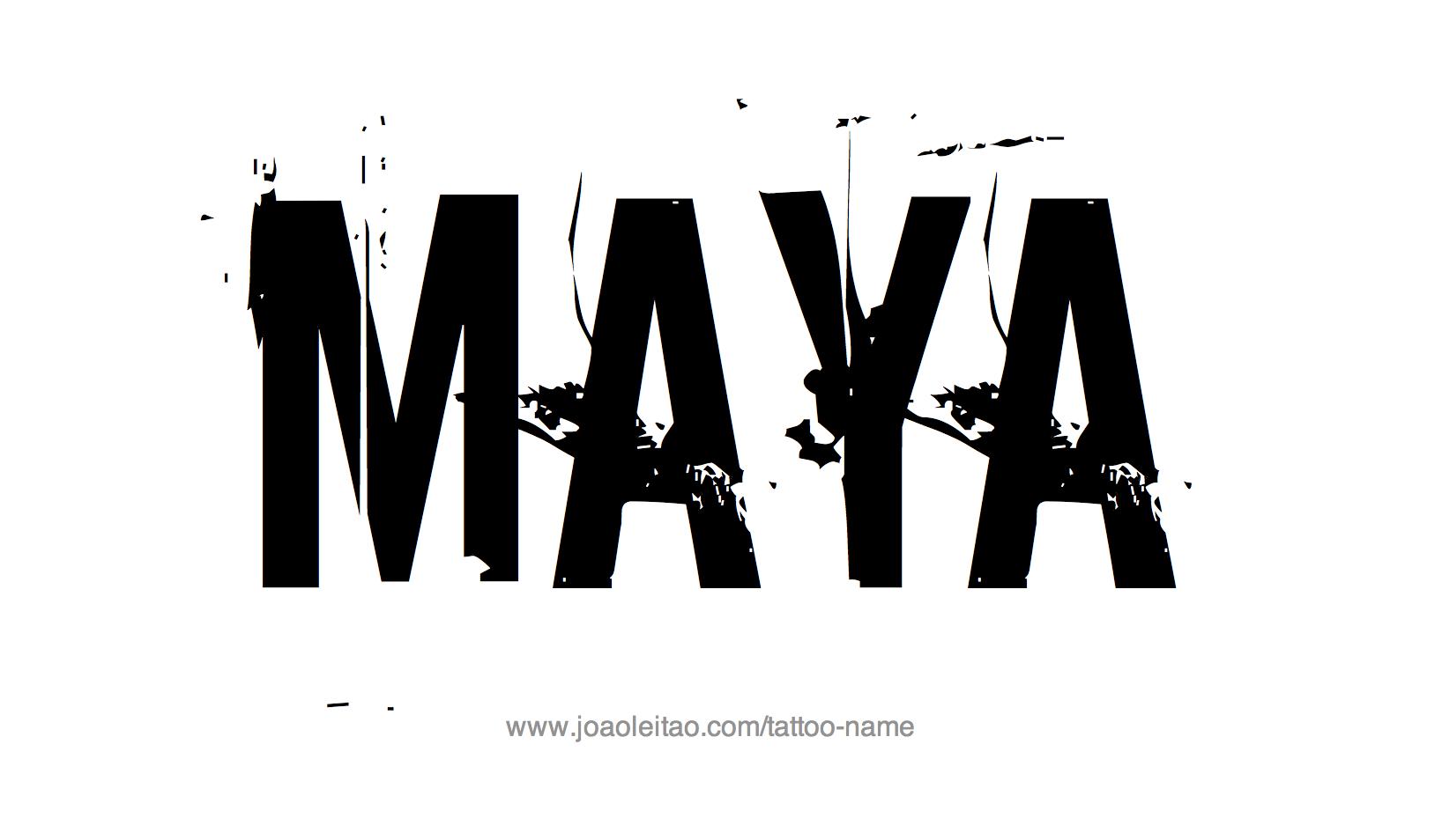 Tattoo Design Name Maya
