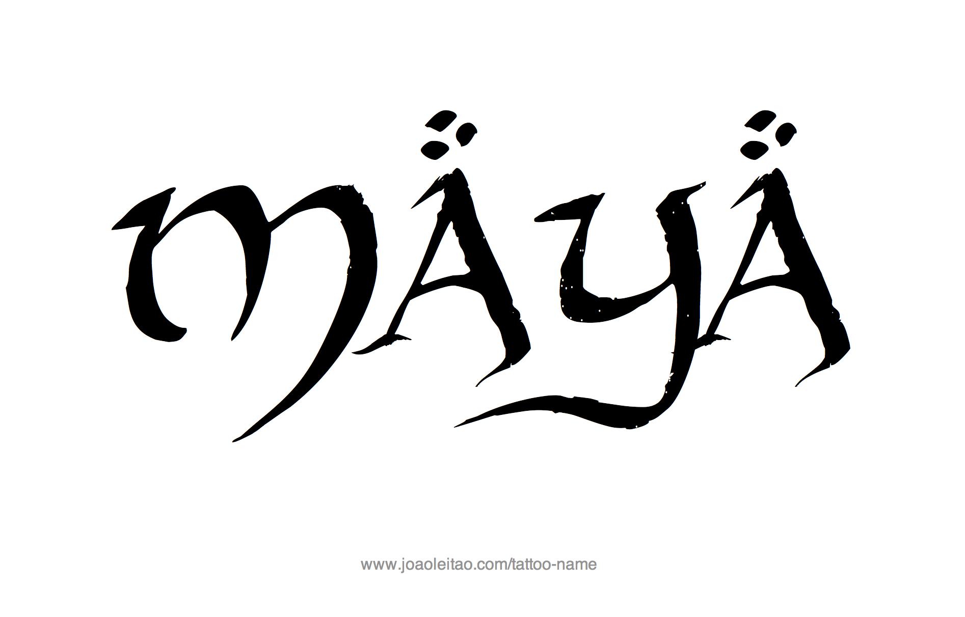 Maya Name Tattoo Designs