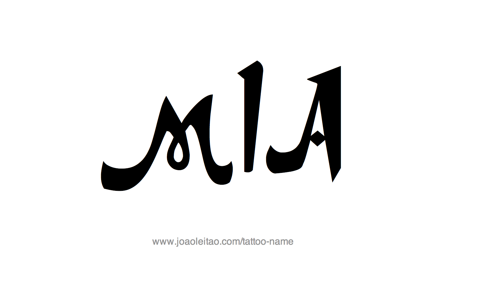 Name: Mia Name Tattoo Designs