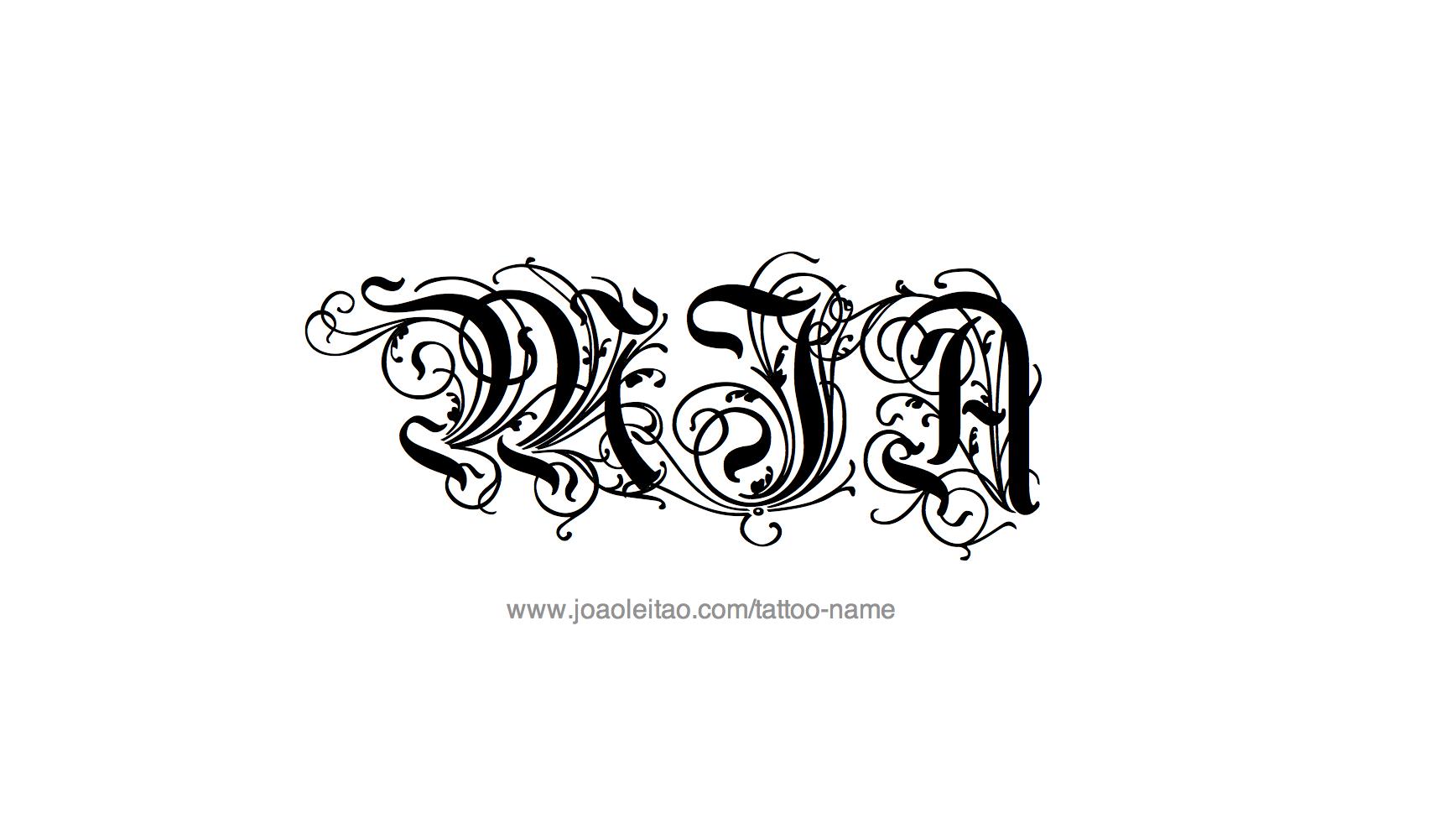 mia name tattoo designs. Black Bedroom Furniture Sets. Home Design Ideas