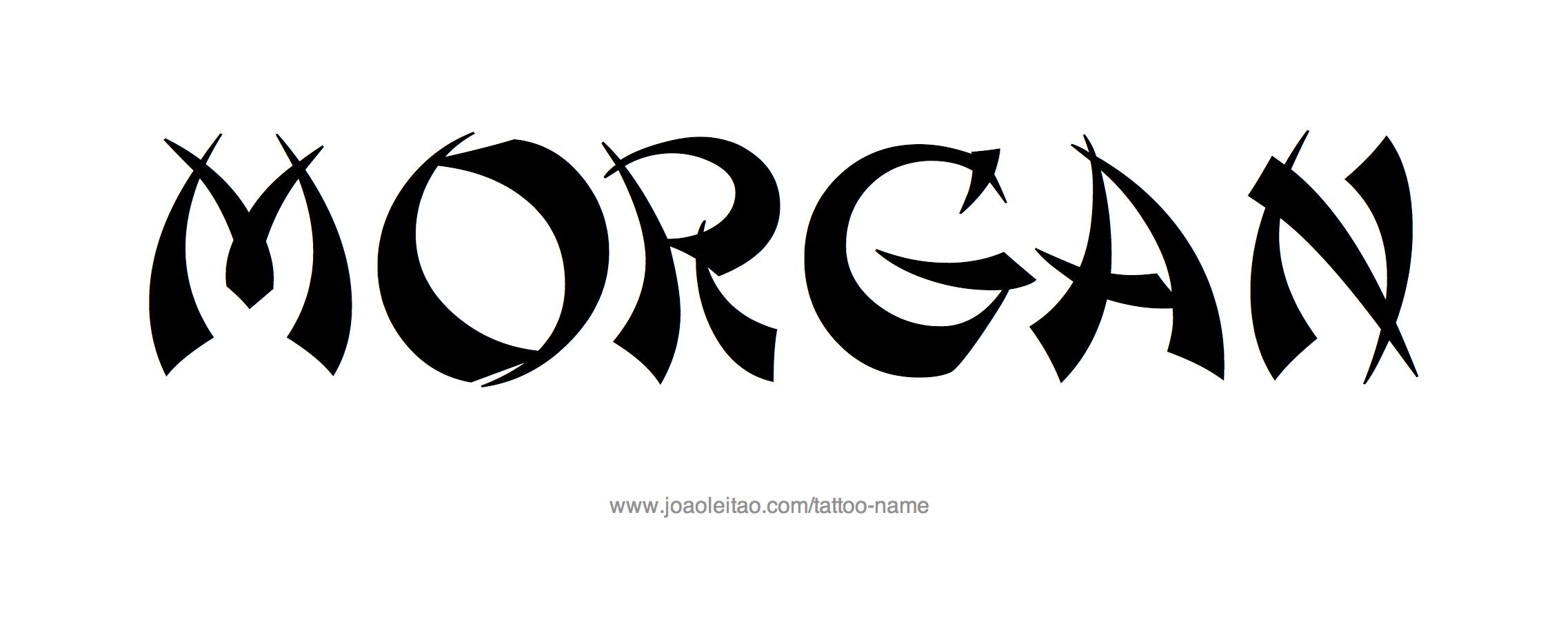 morgan name tattoo designs