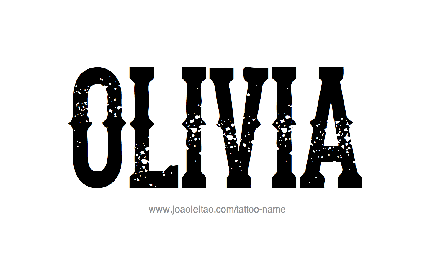Tattoo design female name olivia 20 29