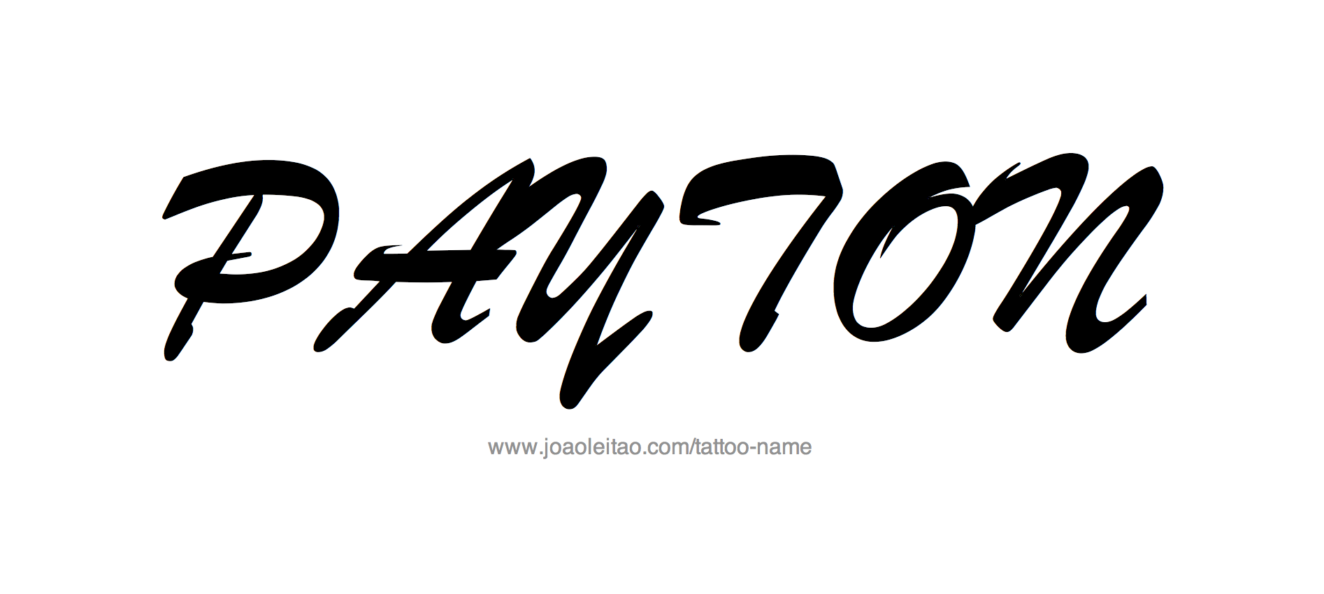 payton name tattoo designs. Black Bedroom Furniture Sets. Home Design Ideas