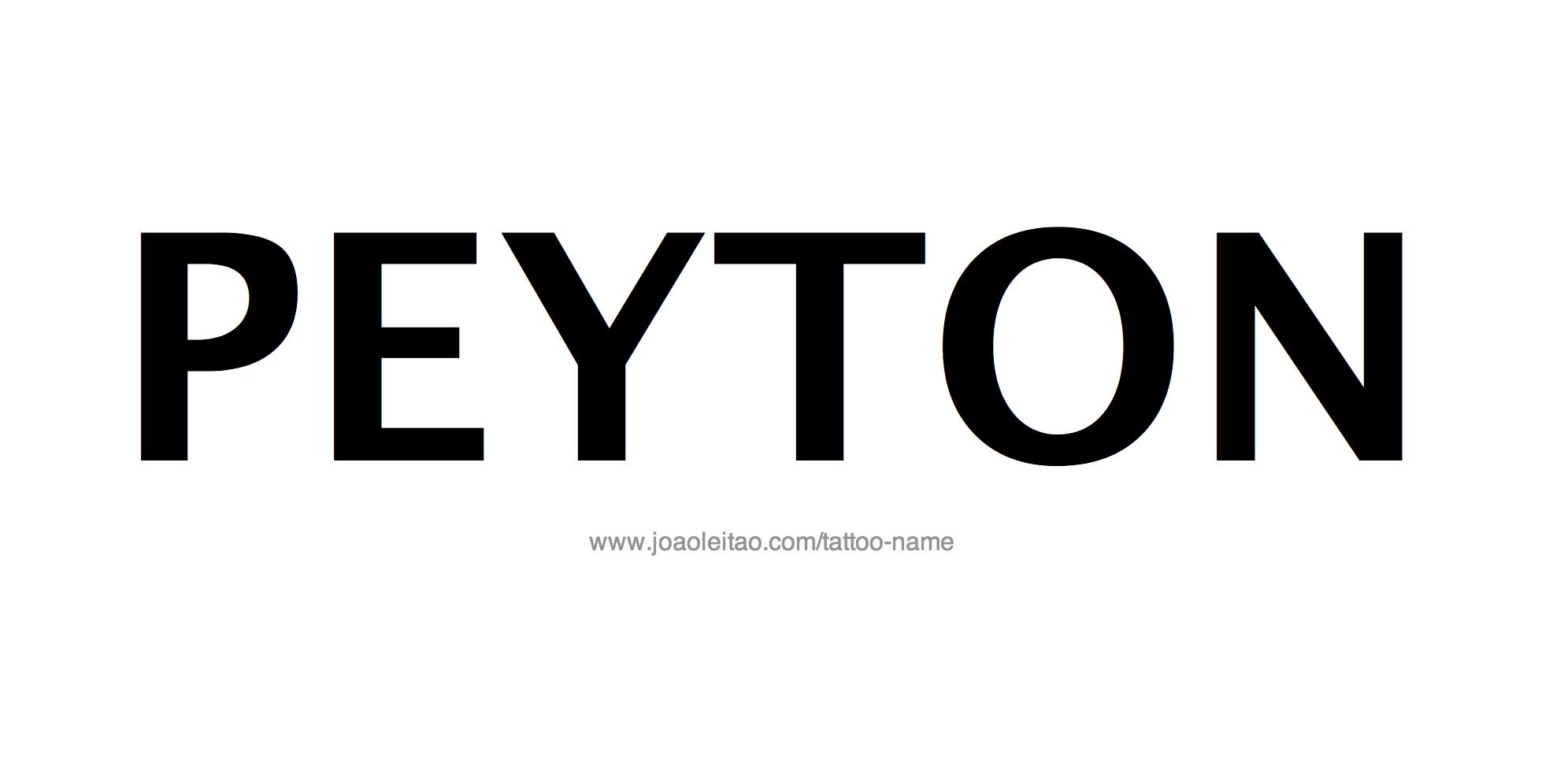 Name: Peyton Name Tattoo Designs