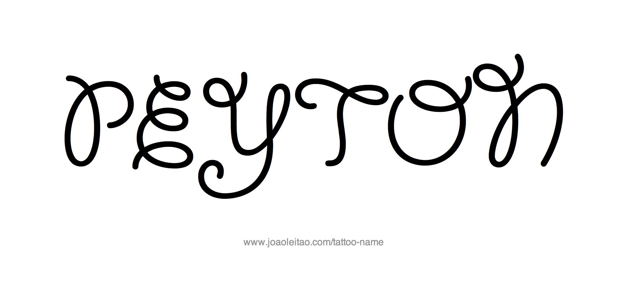 Name tattoo designs free - Tattoo Design Name Peyton