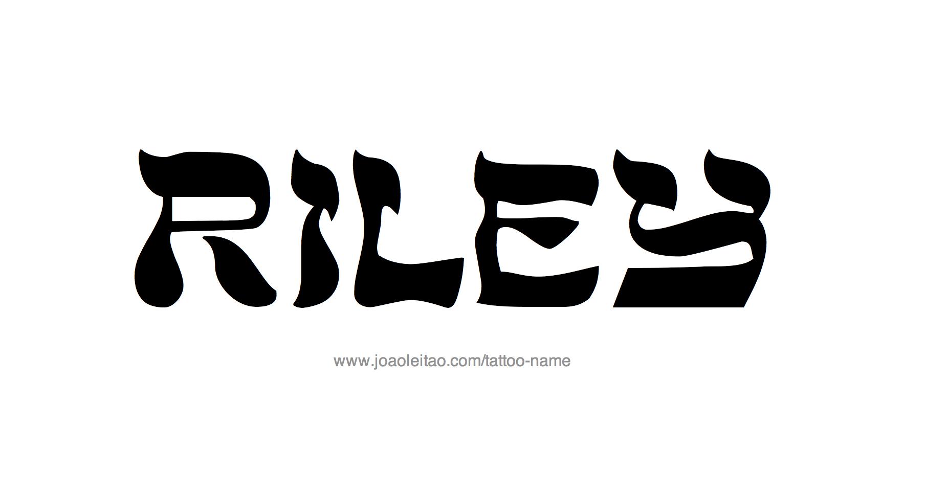 Riley Name Tattoo Designs