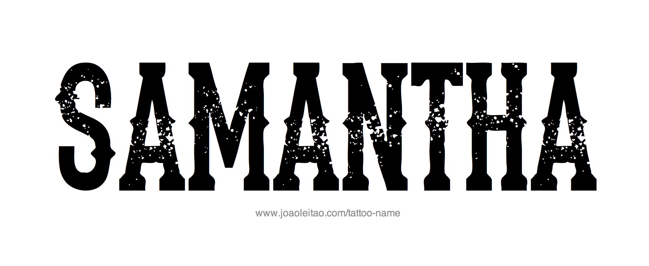 Samantha Name Tattoo Designs