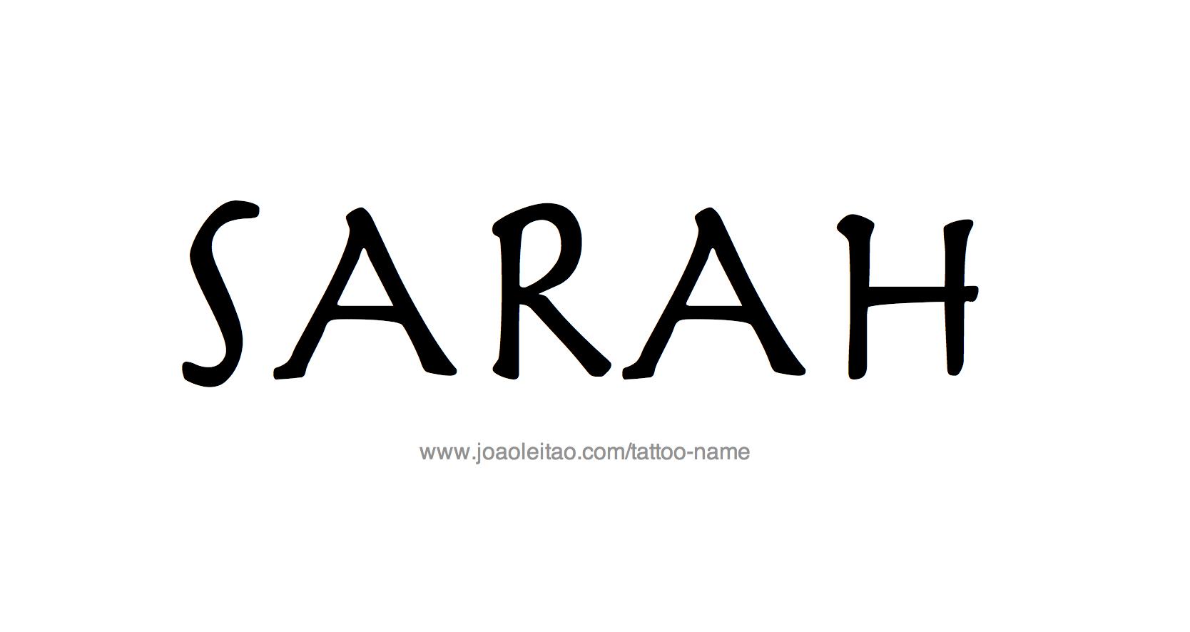 sarah name tattoo designs. Black Bedroom Furniture Sets. Home Design Ideas