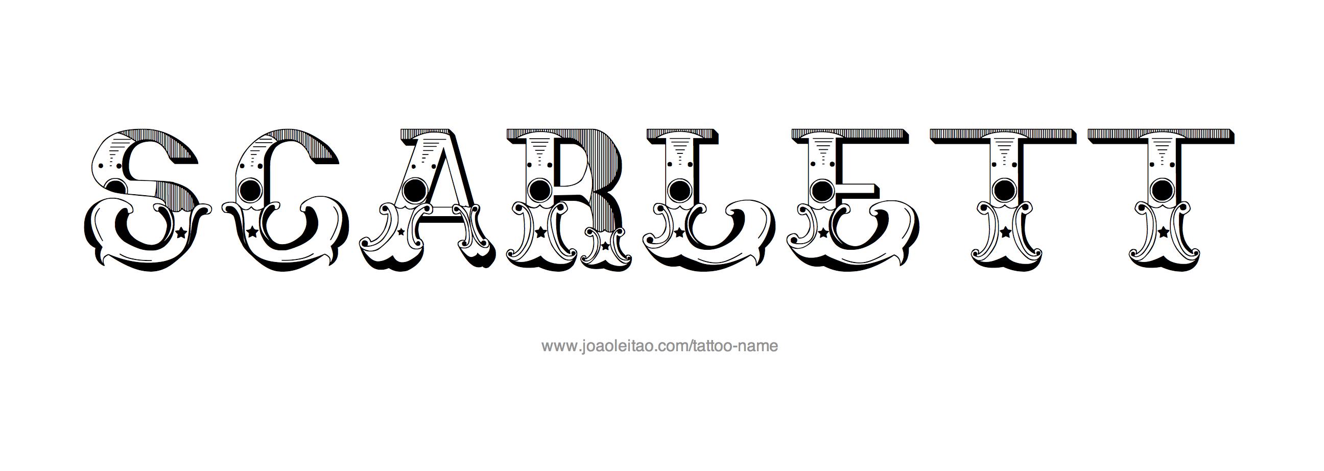scarlett name tattoo designs. Black Bedroom Furniture Sets. Home Design Ideas