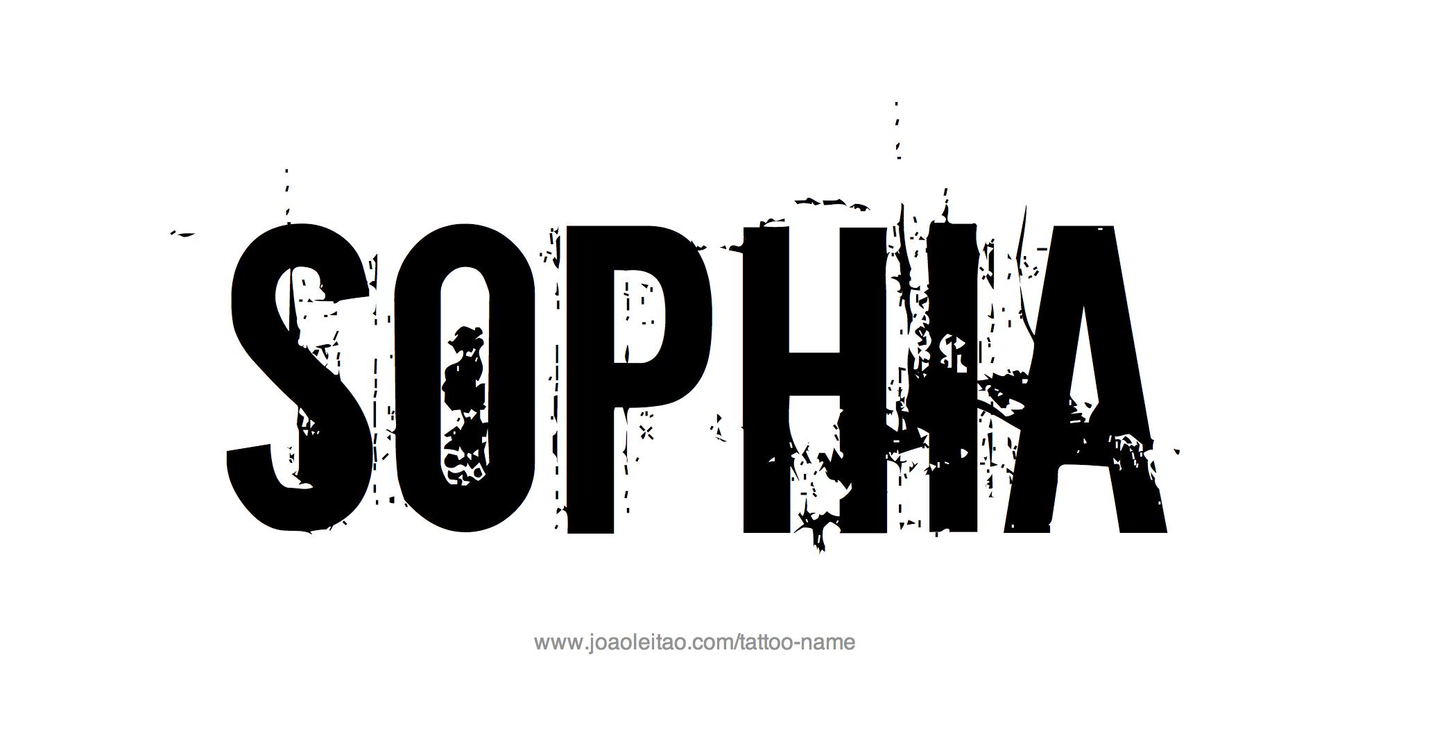 Sophia name tattoo designs
