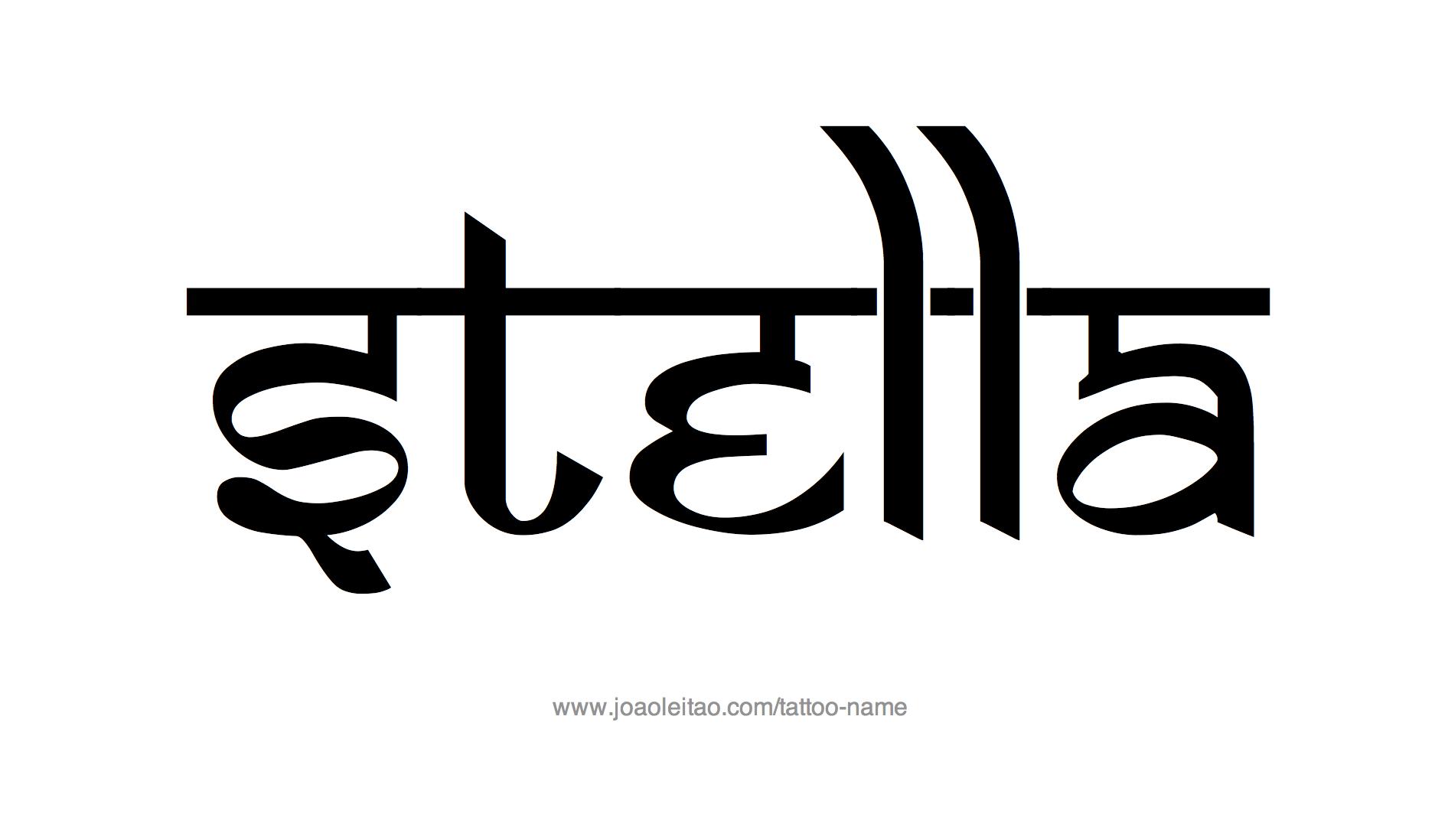 %name%: Stella Name Tattoo Designs