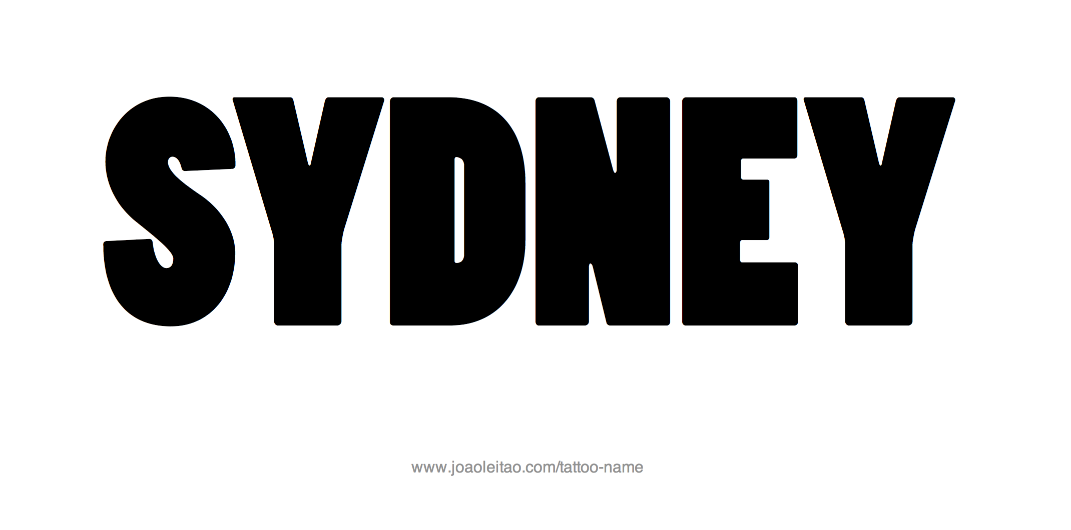 Sydney Name Tattoo Designs