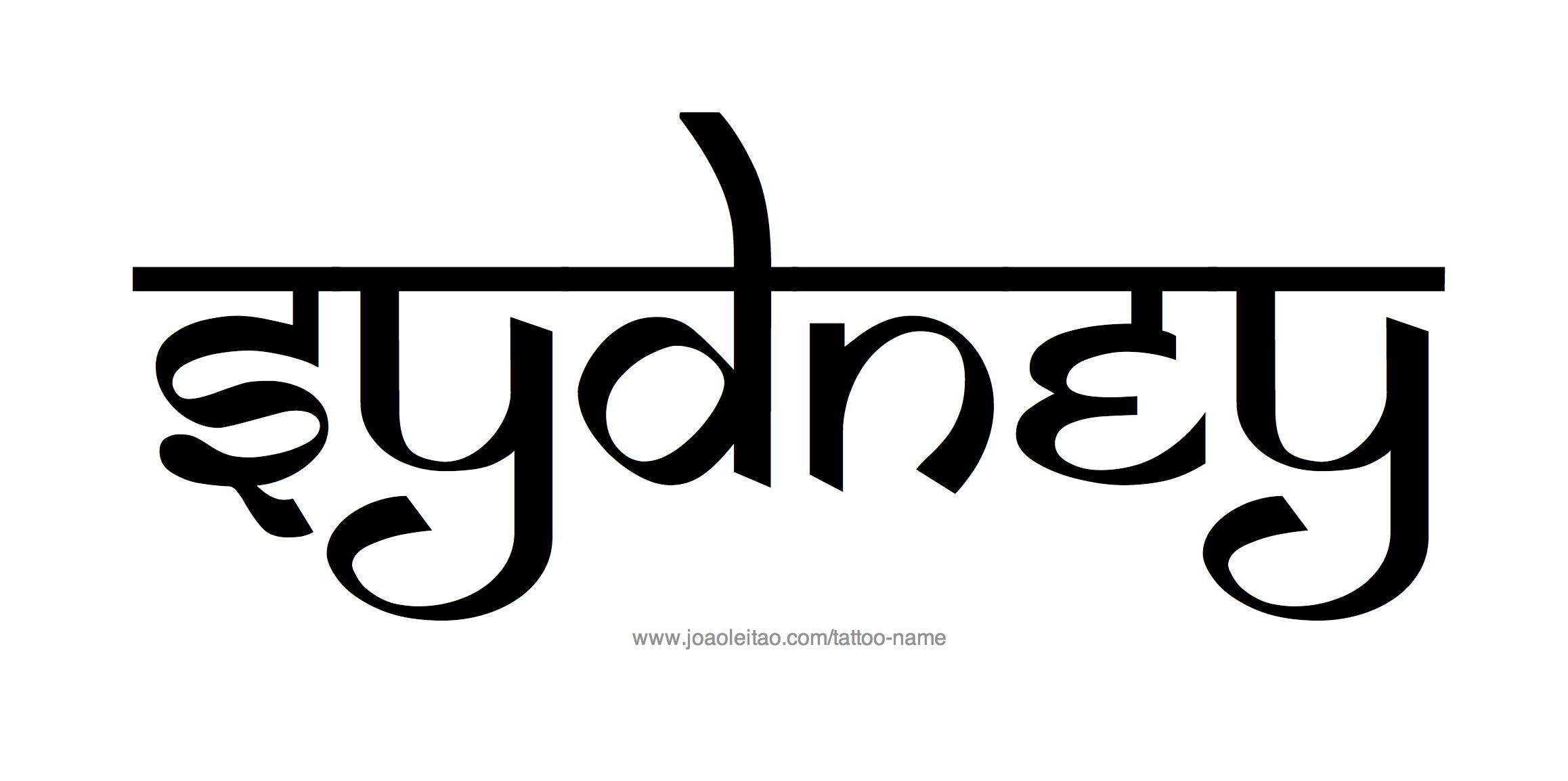 Name: Sydney Name Tattoo Designs