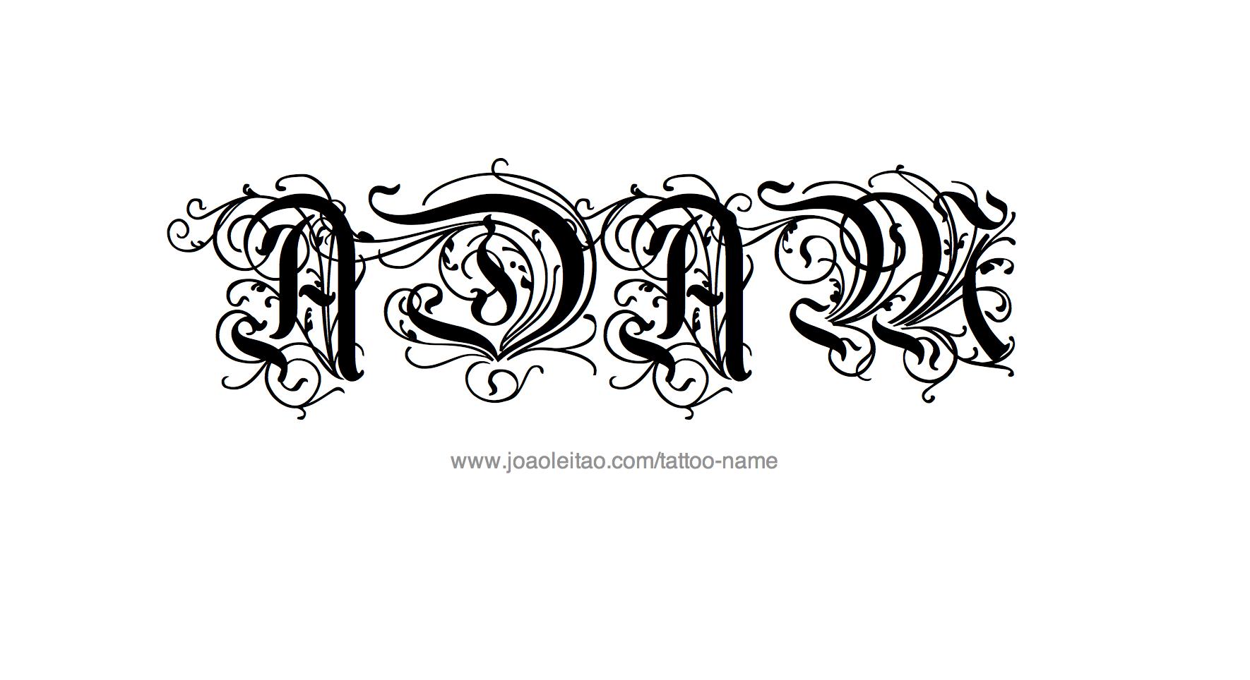 Adam Design adam name tattoo designs