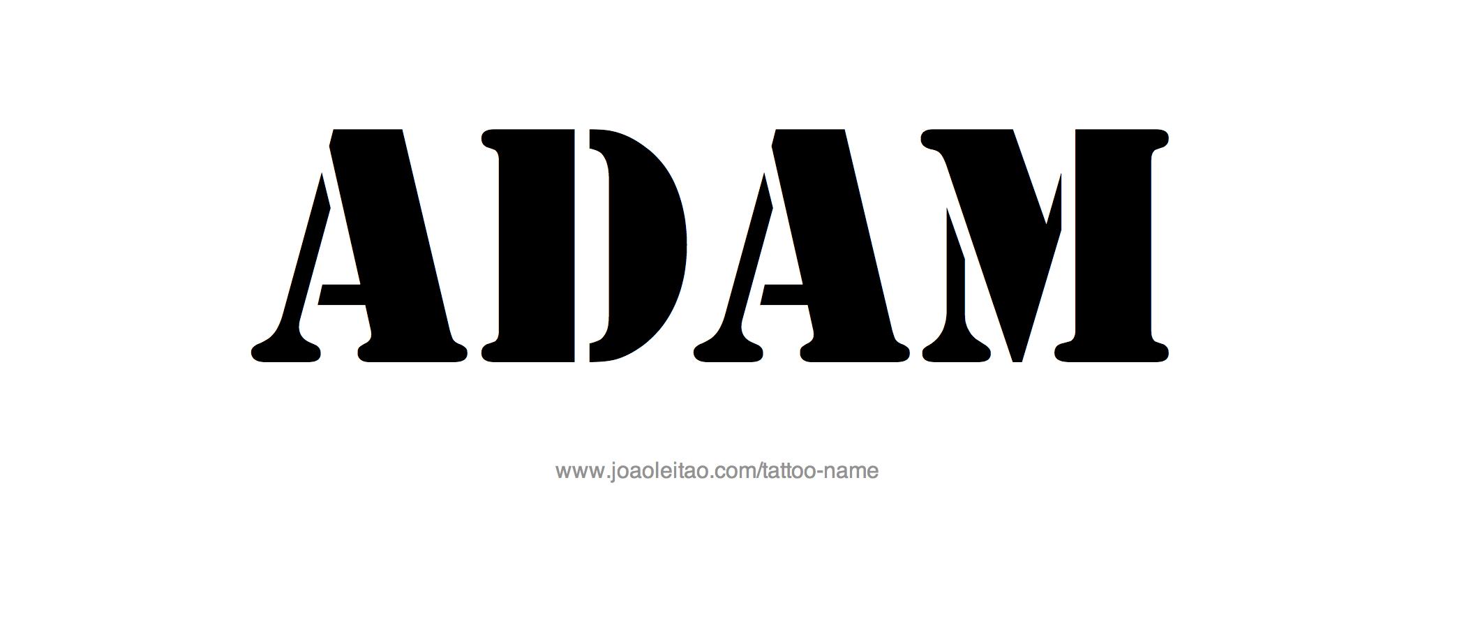 Name: Adam Name Tattoo Designs