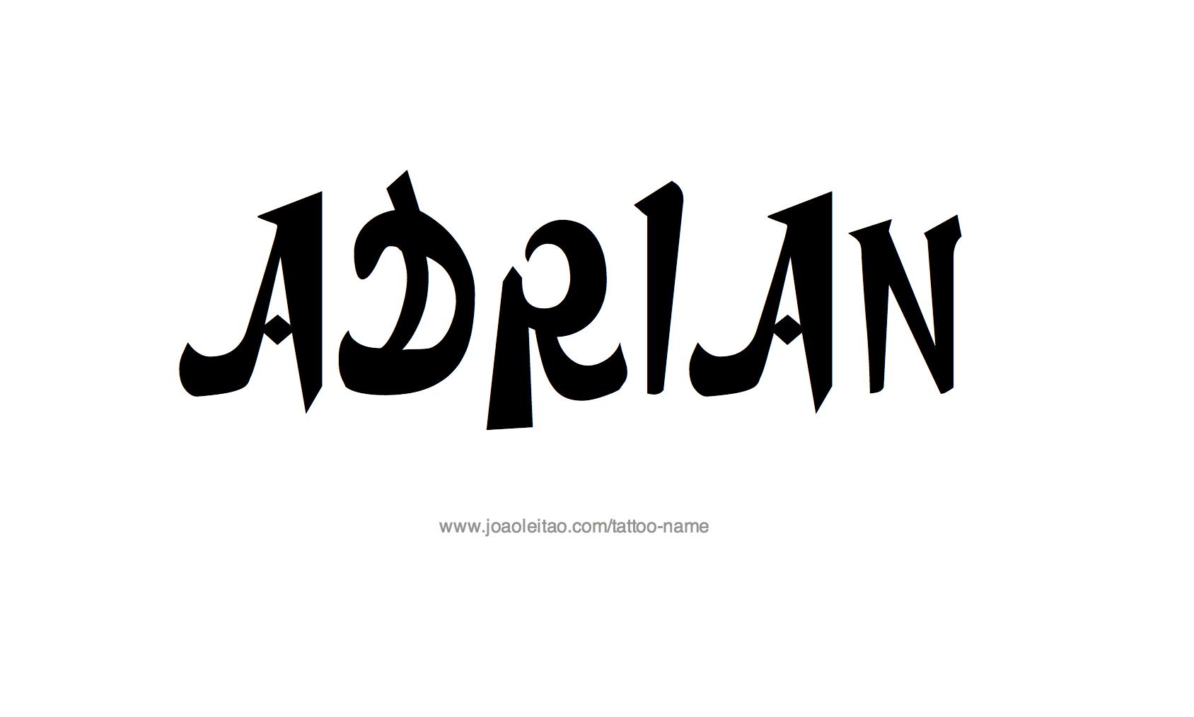 Tattoo Design Name Adrian