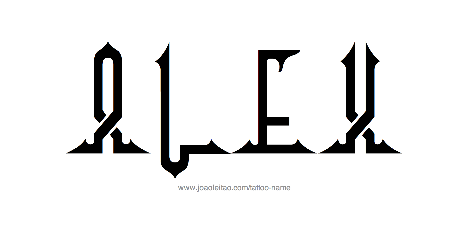 Tattoo Design Name Alex