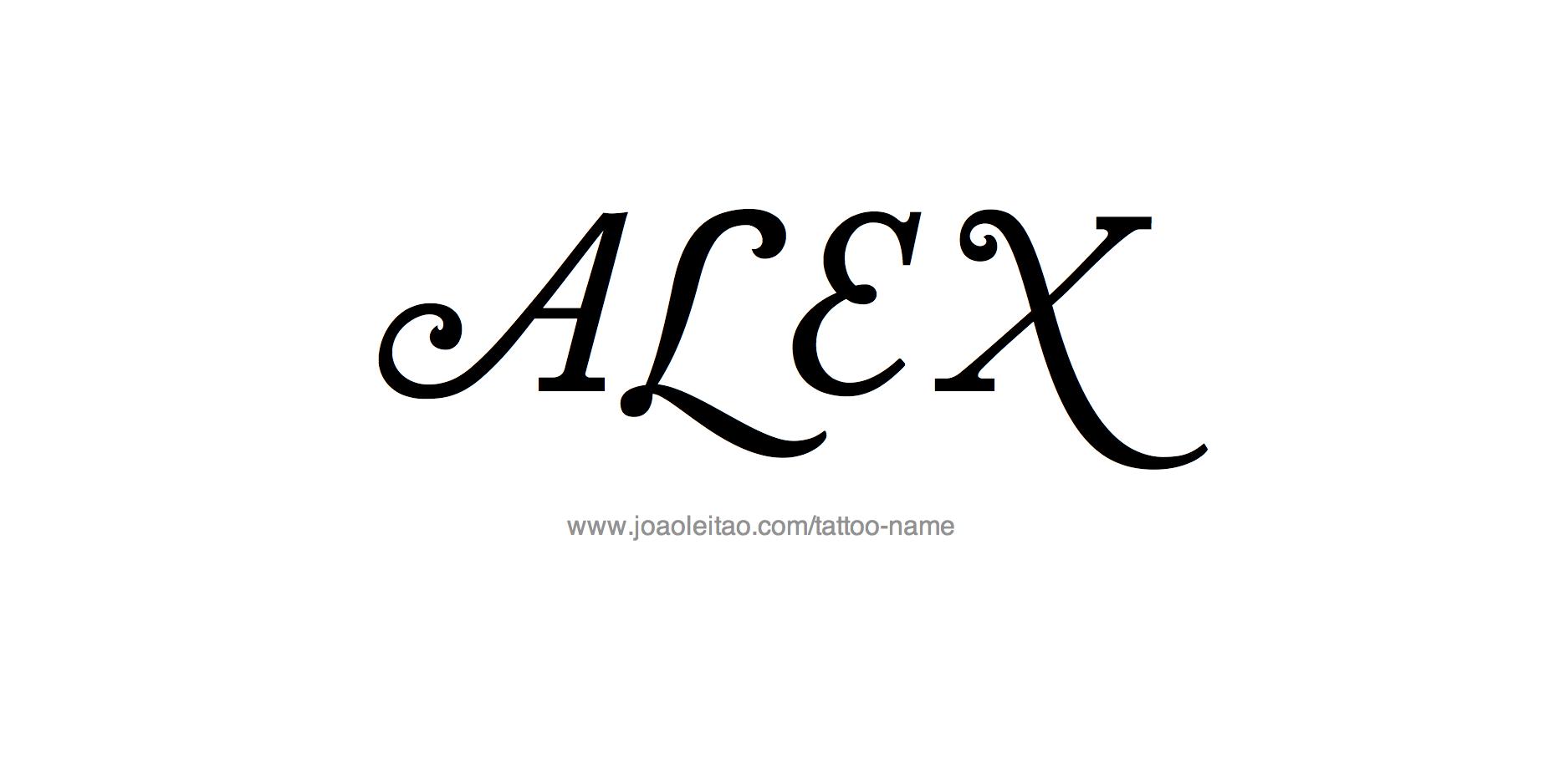 alex name tattoo