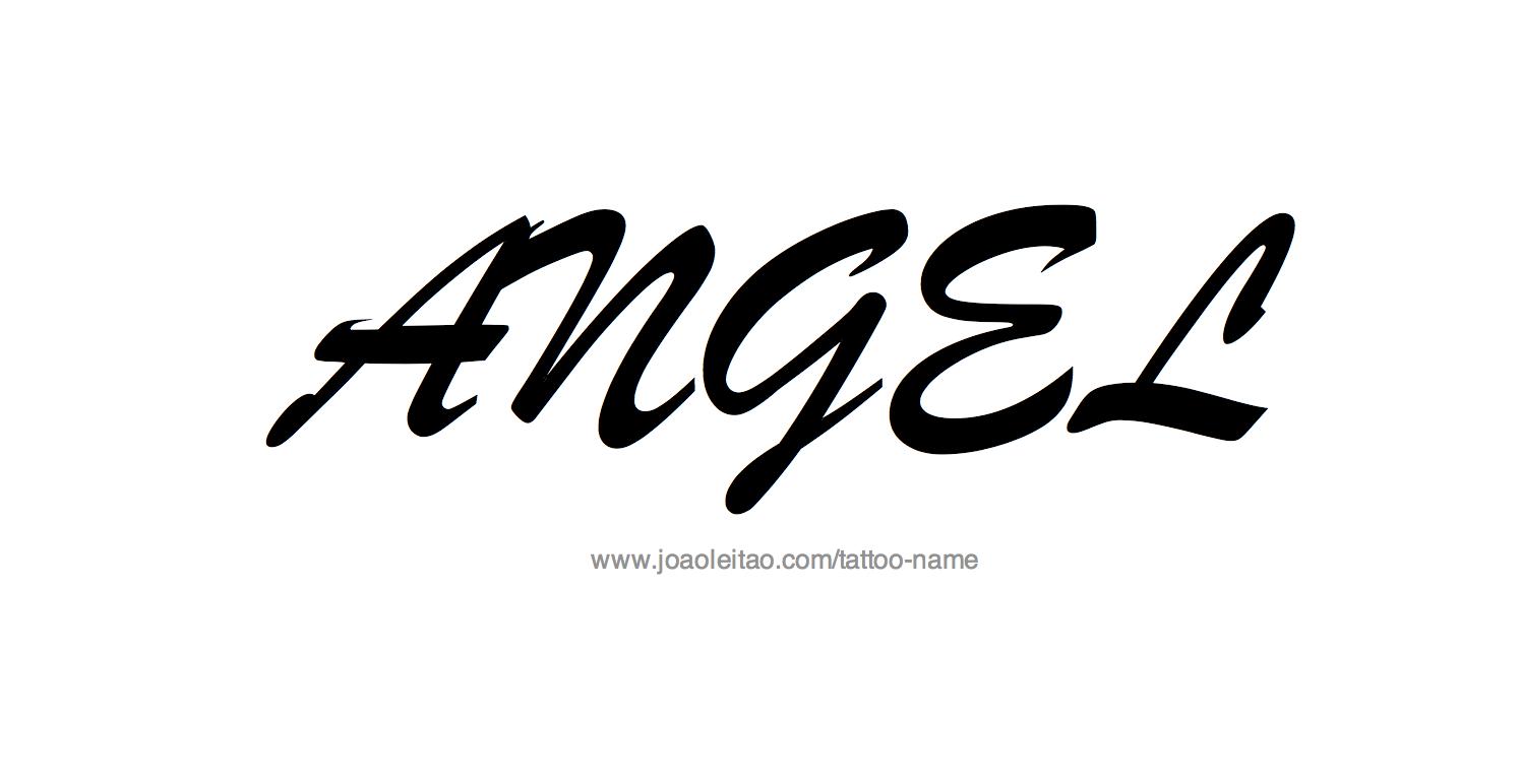 angel name tattoo designs. Black Bedroom Furniture Sets. Home Design Ideas