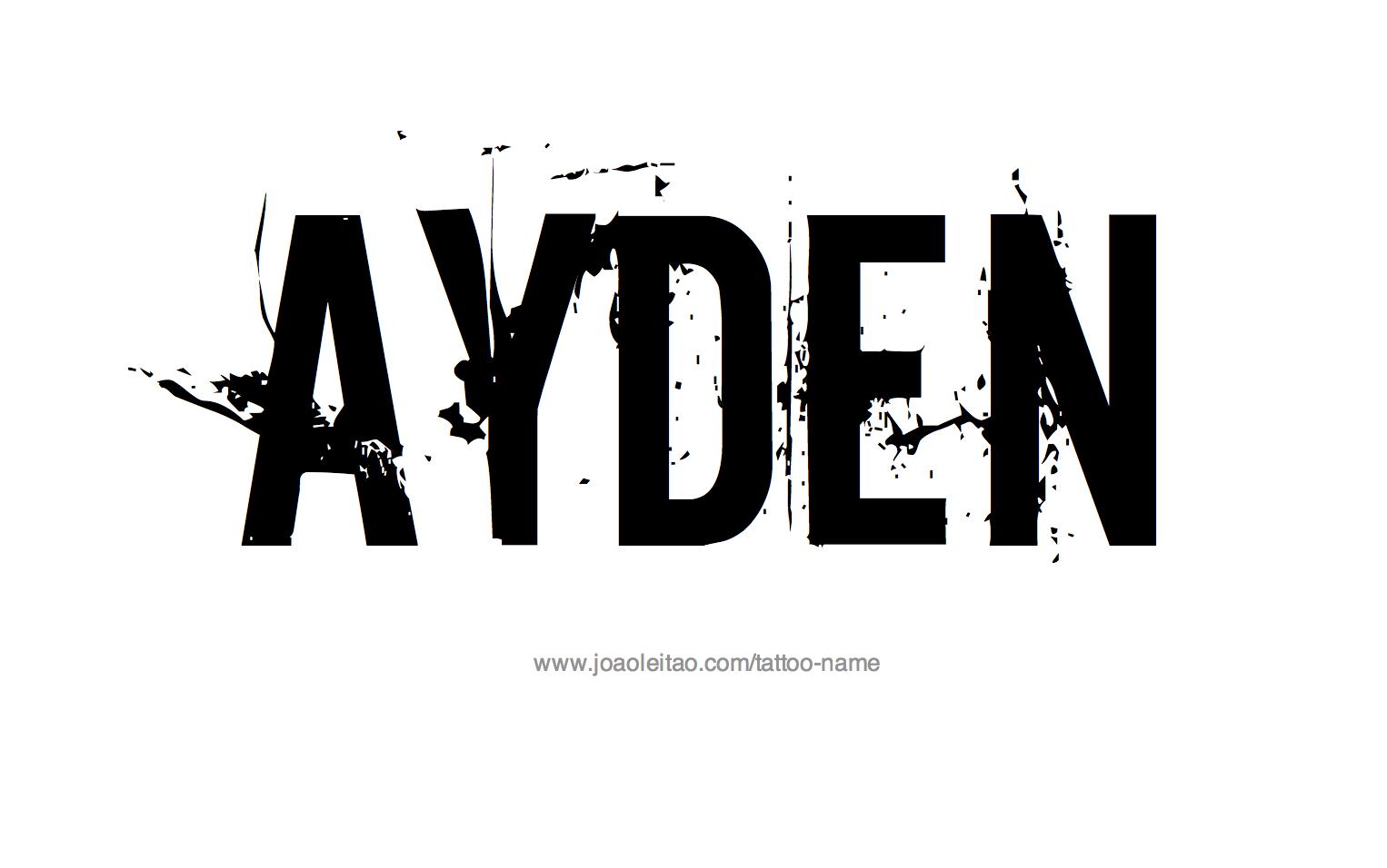 Name: Ayden Name Tattoo Designs