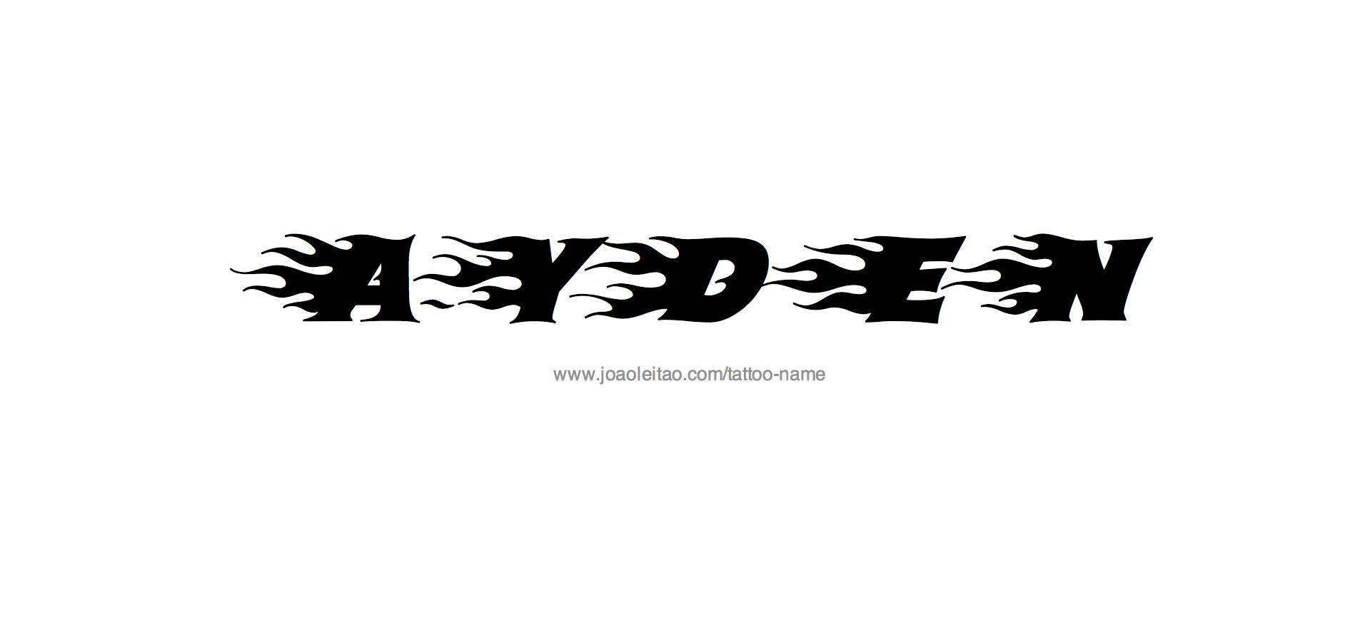ayden name tattoo designs