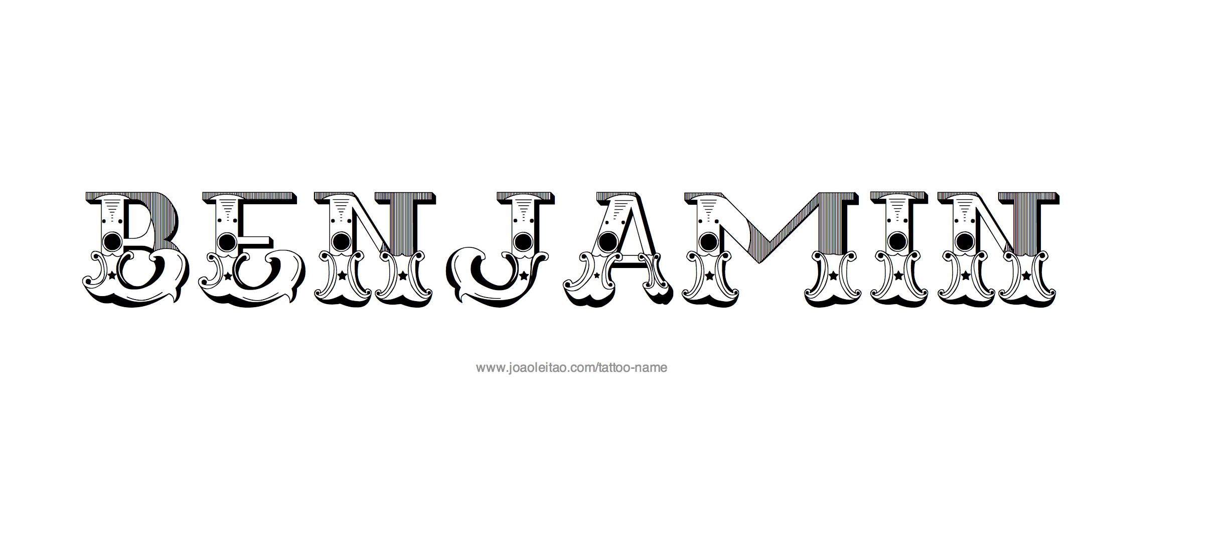 Car Rental Websites >> Benjamin Name Tattoo Designs