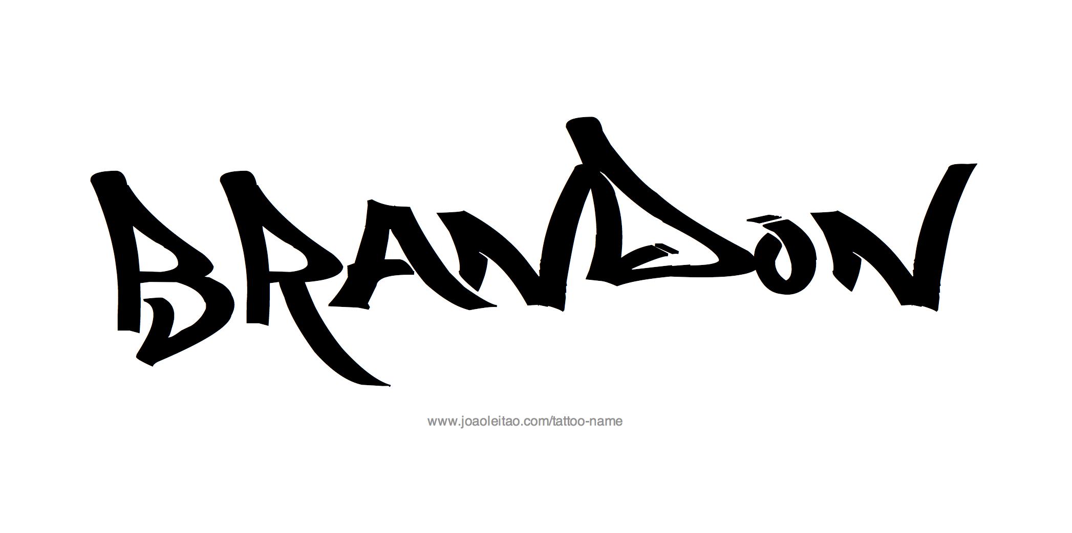brandon name tattoo designs. Black Bedroom Furniture Sets. Home Design Ideas