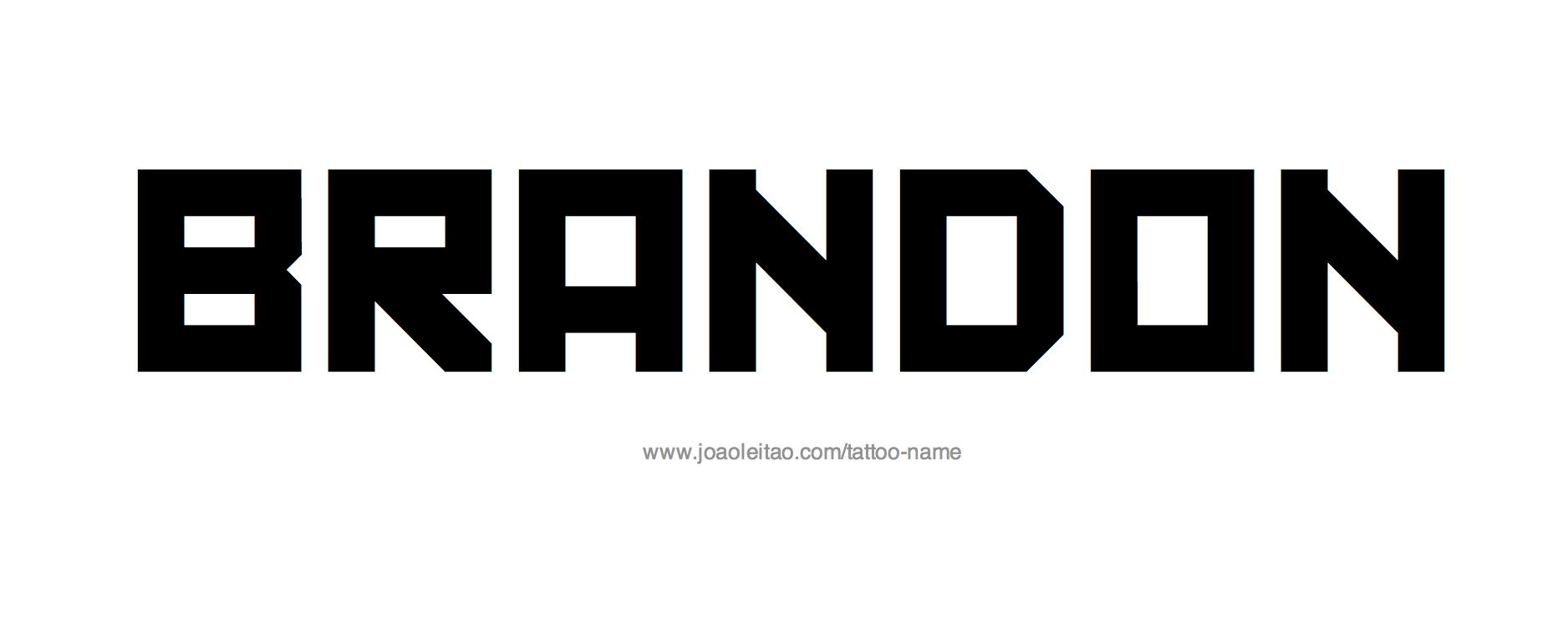 Name: Brandon Name Tattoo Designs