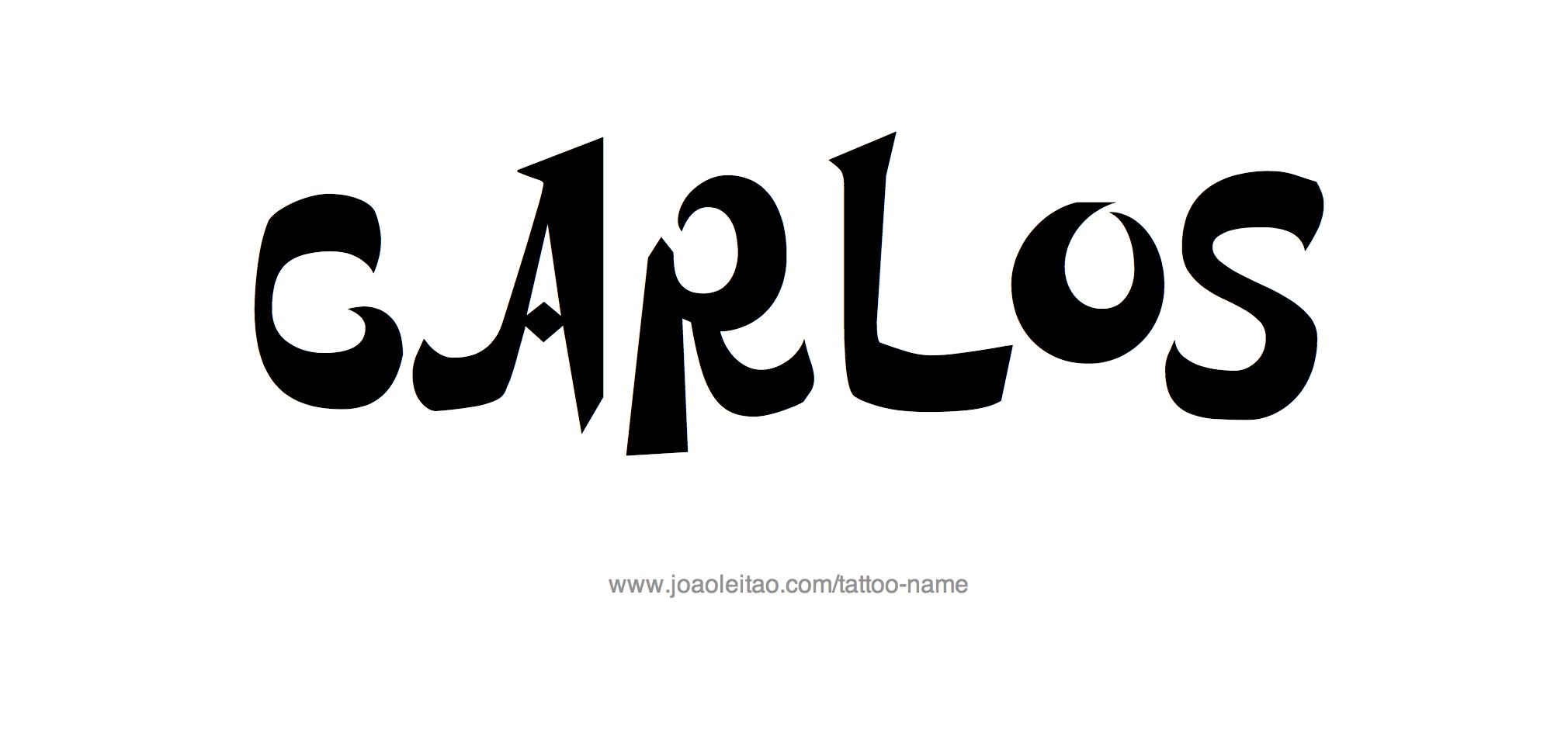 %name%: Carlos Name Tattoo Designs