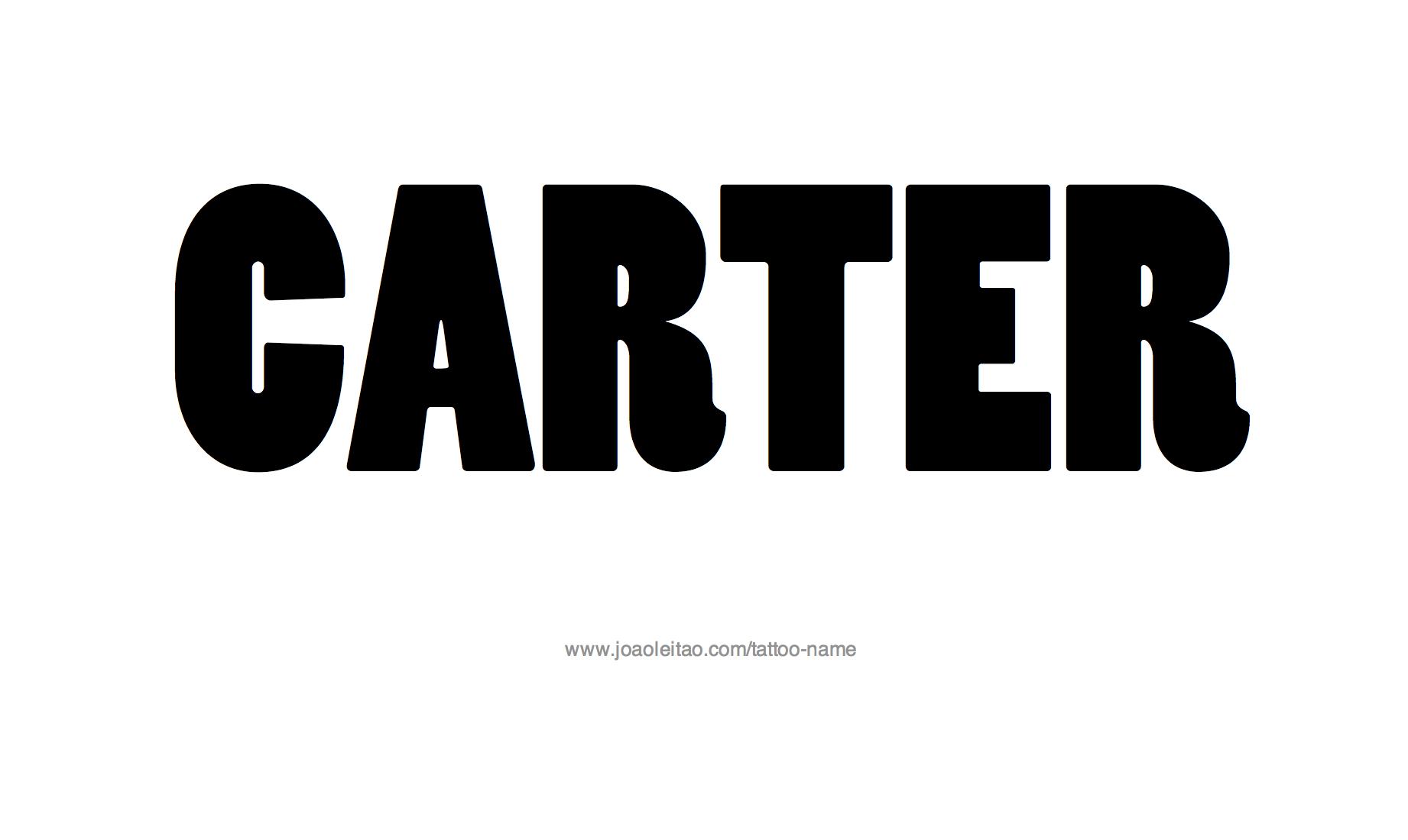 Name: Carter Name Tattoo Designs