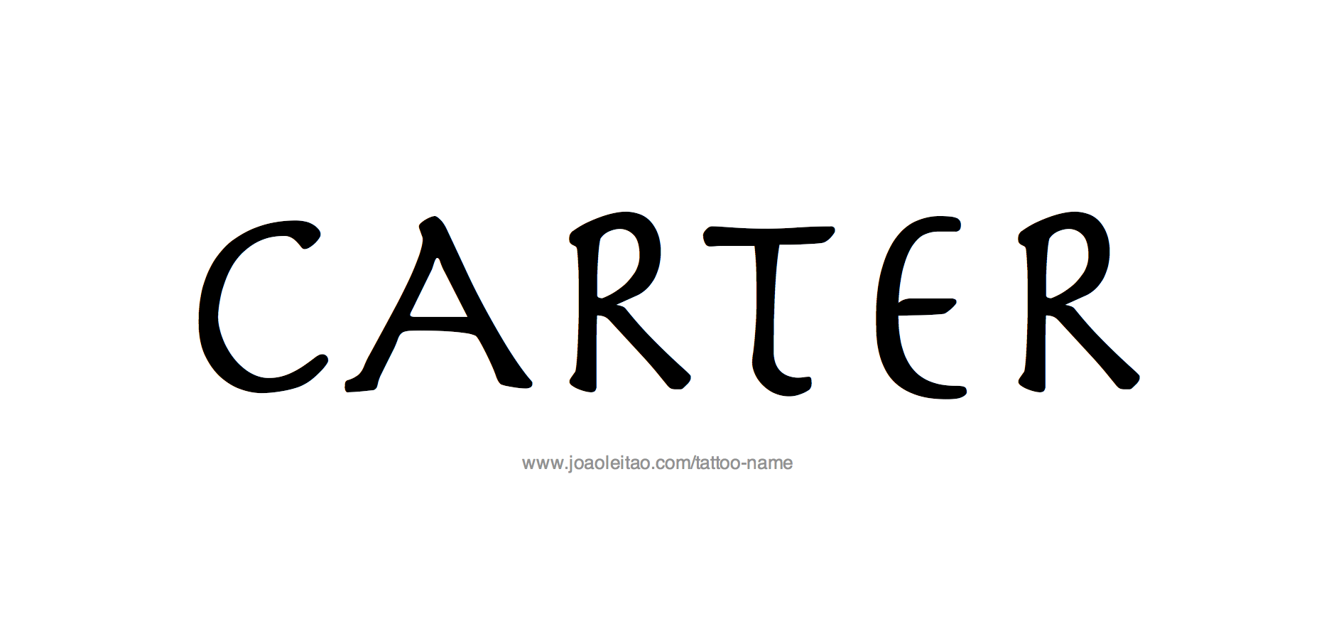 Tattoo Design Name Carter