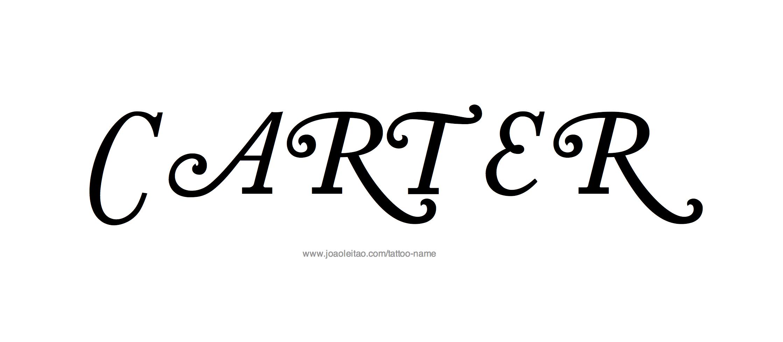 carter name tattoo designs