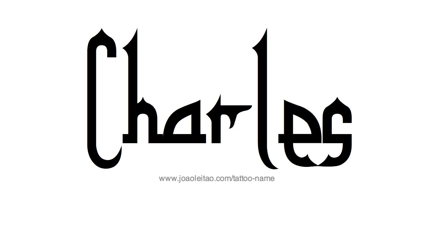 charles design Charles Name Tattoo Designs charles design