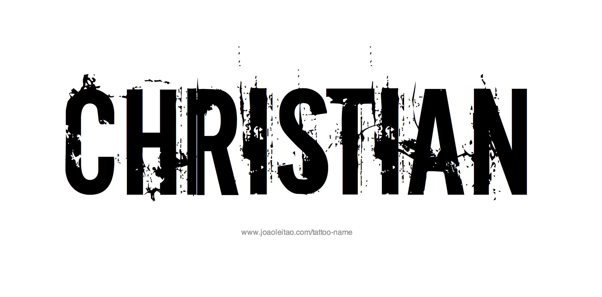 Christian Name Tattoo design name christian  Christian