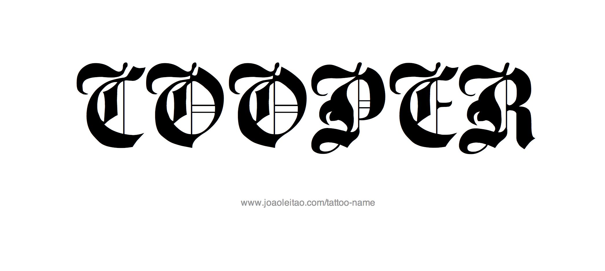 Cooper Name Tattoo Designs