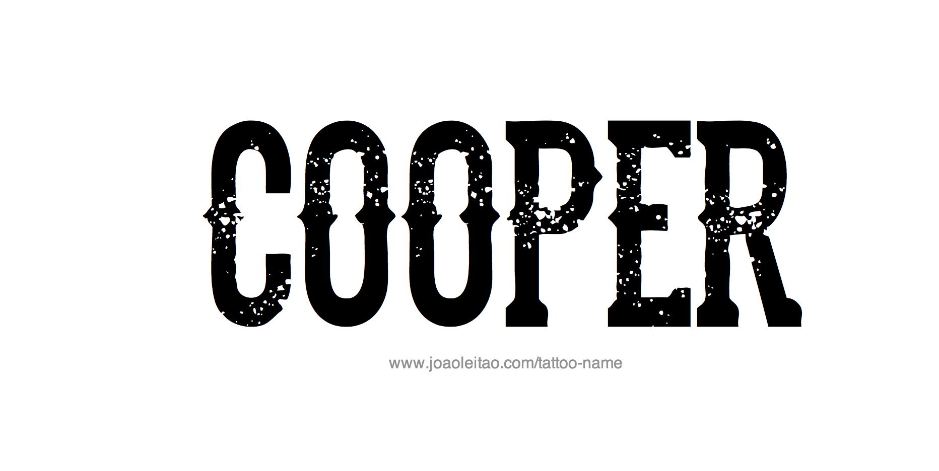 Name: Cooper Name Tattoo Designs
