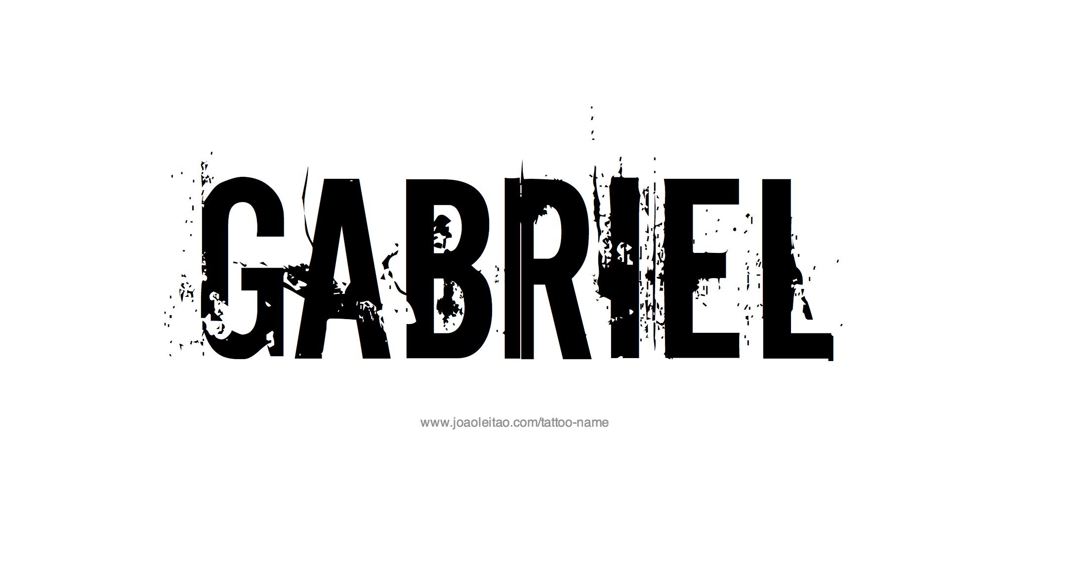Gabriel Name Tattoo Designs