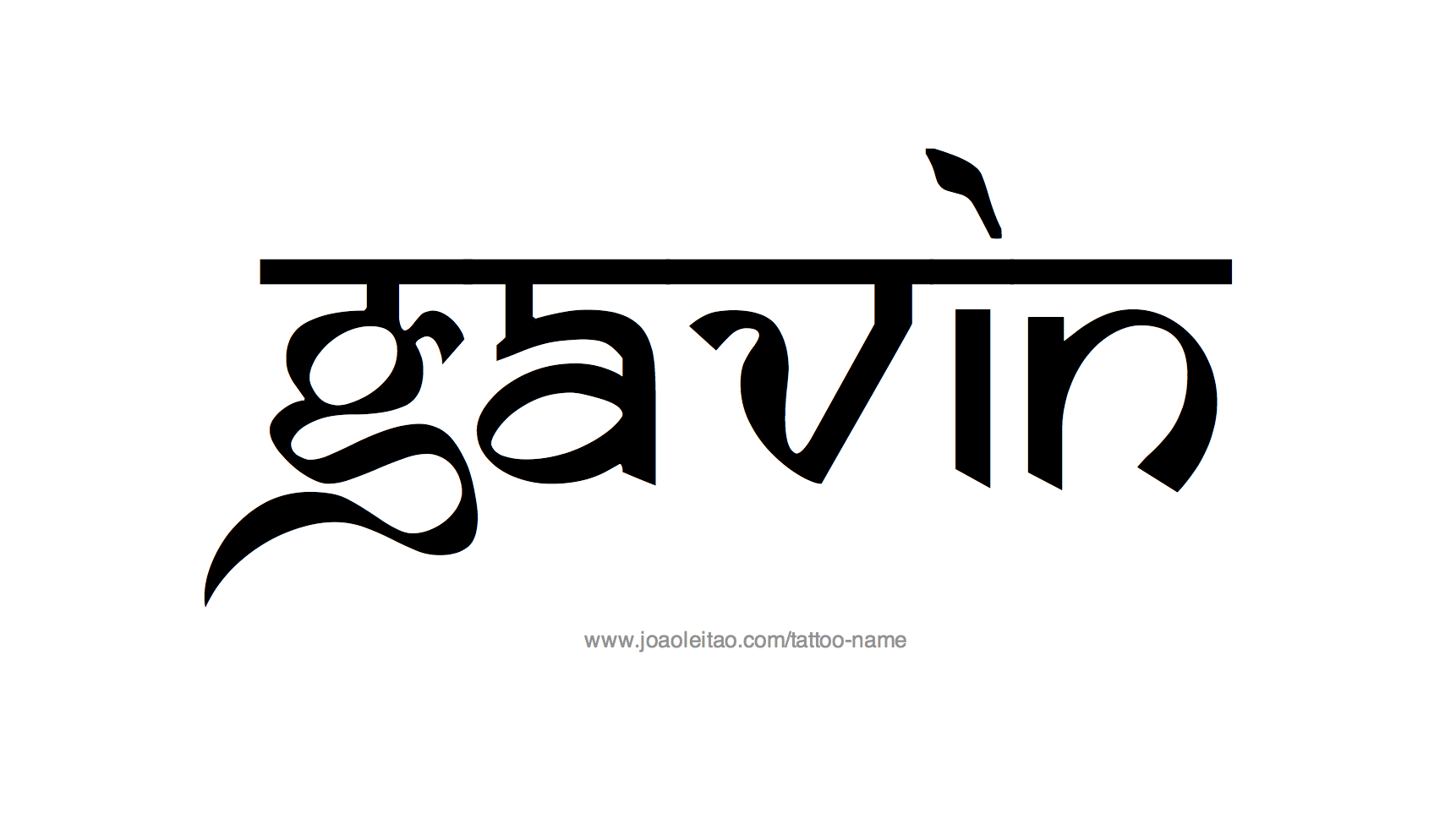 Name: Gavin Name Tattoo Designs