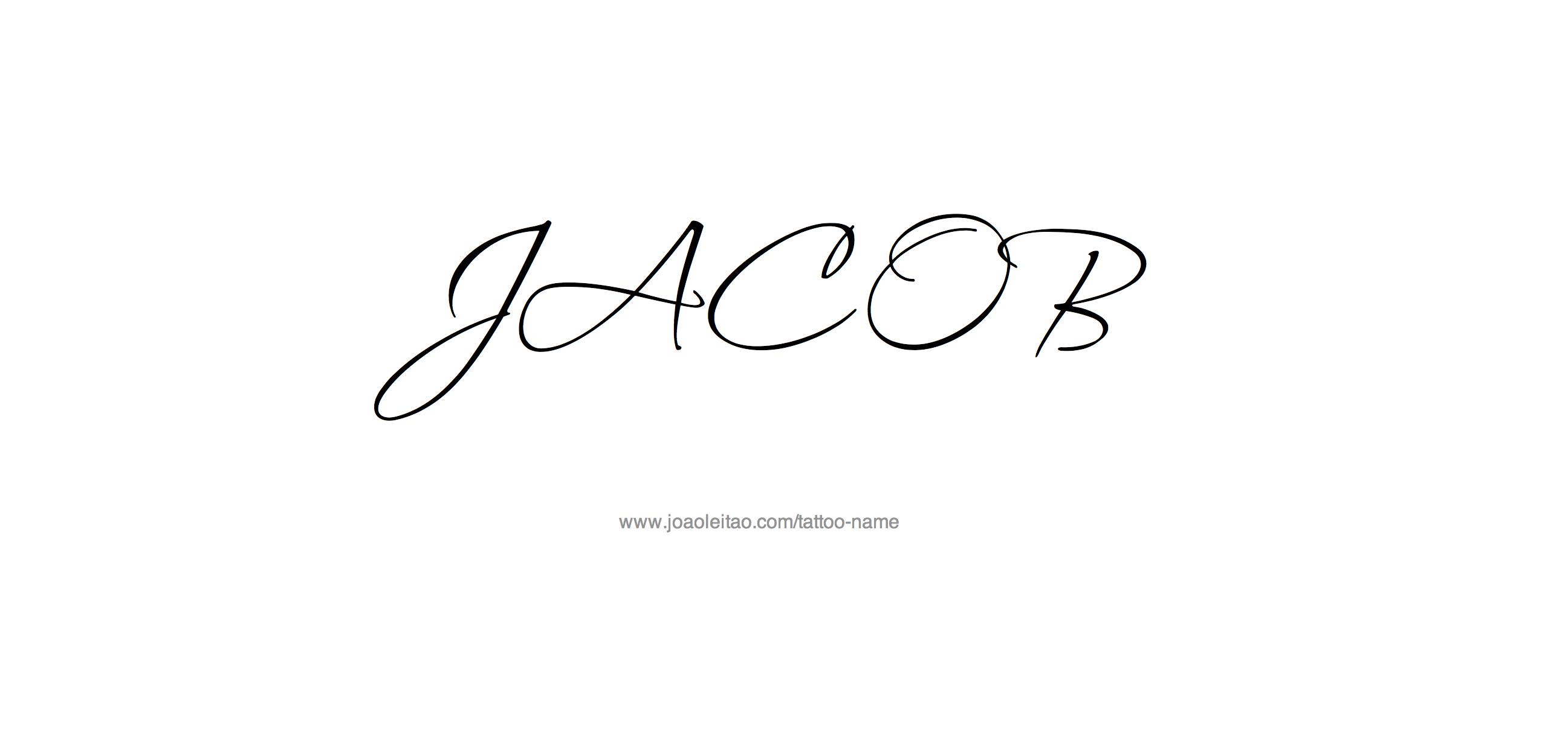 Jacob Name Tattoo