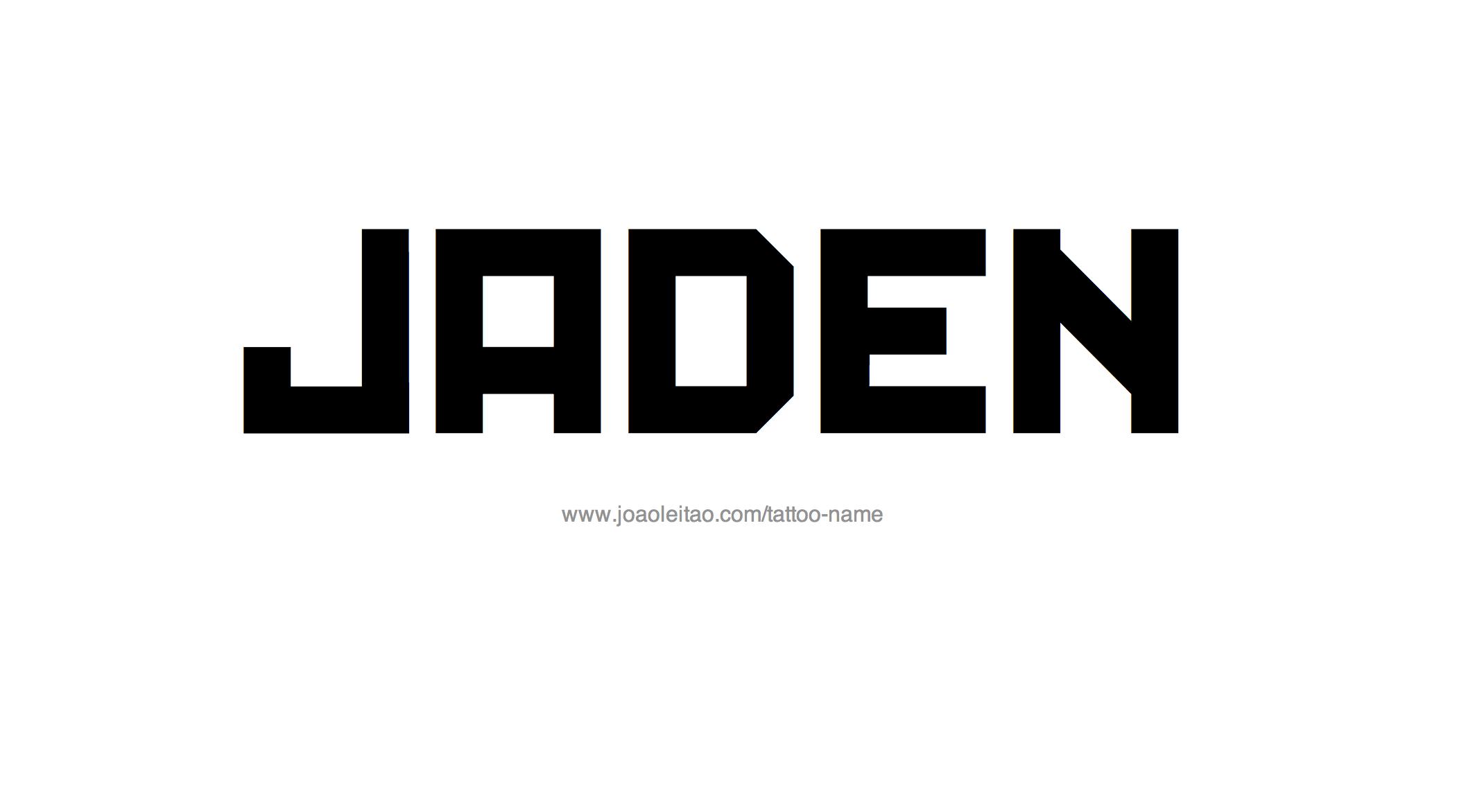 Name: Jaden Name Tattoo Designs
