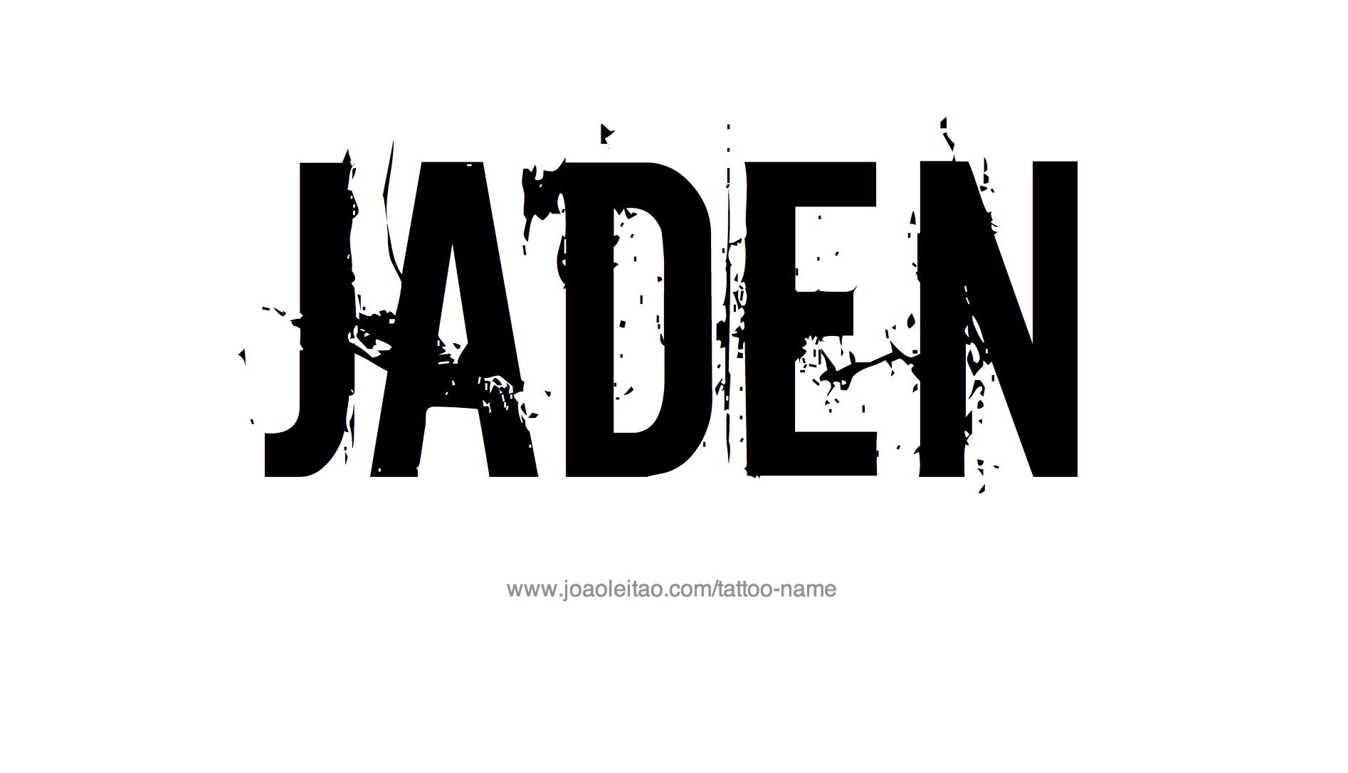 jaden name tattoo designs