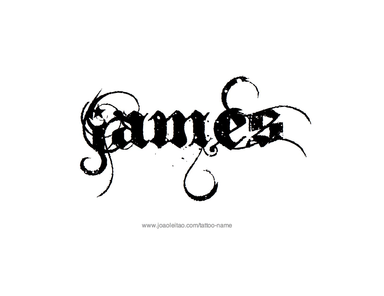 james name tattoo designs