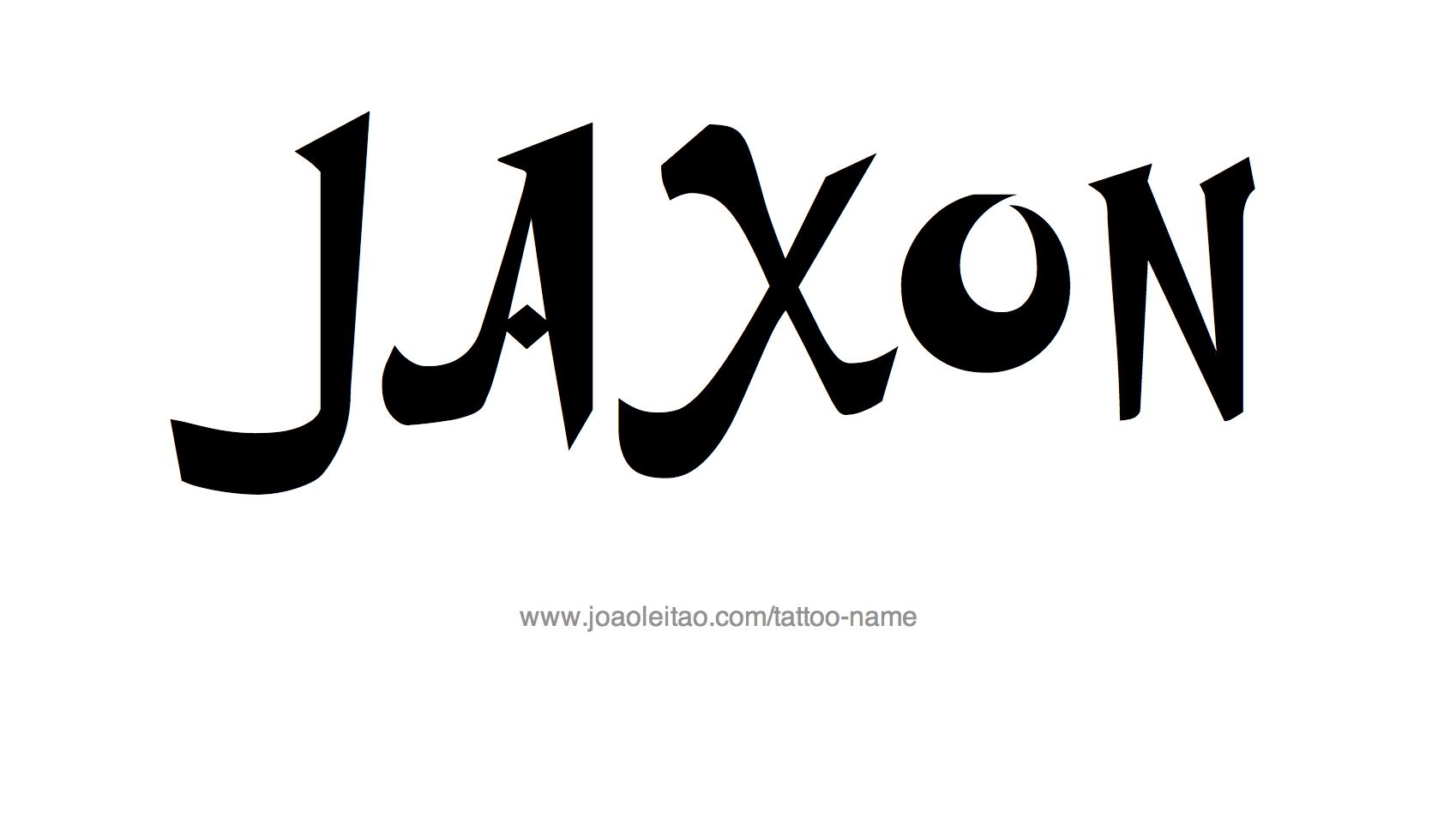 Jaxon Name Tattoo Designs