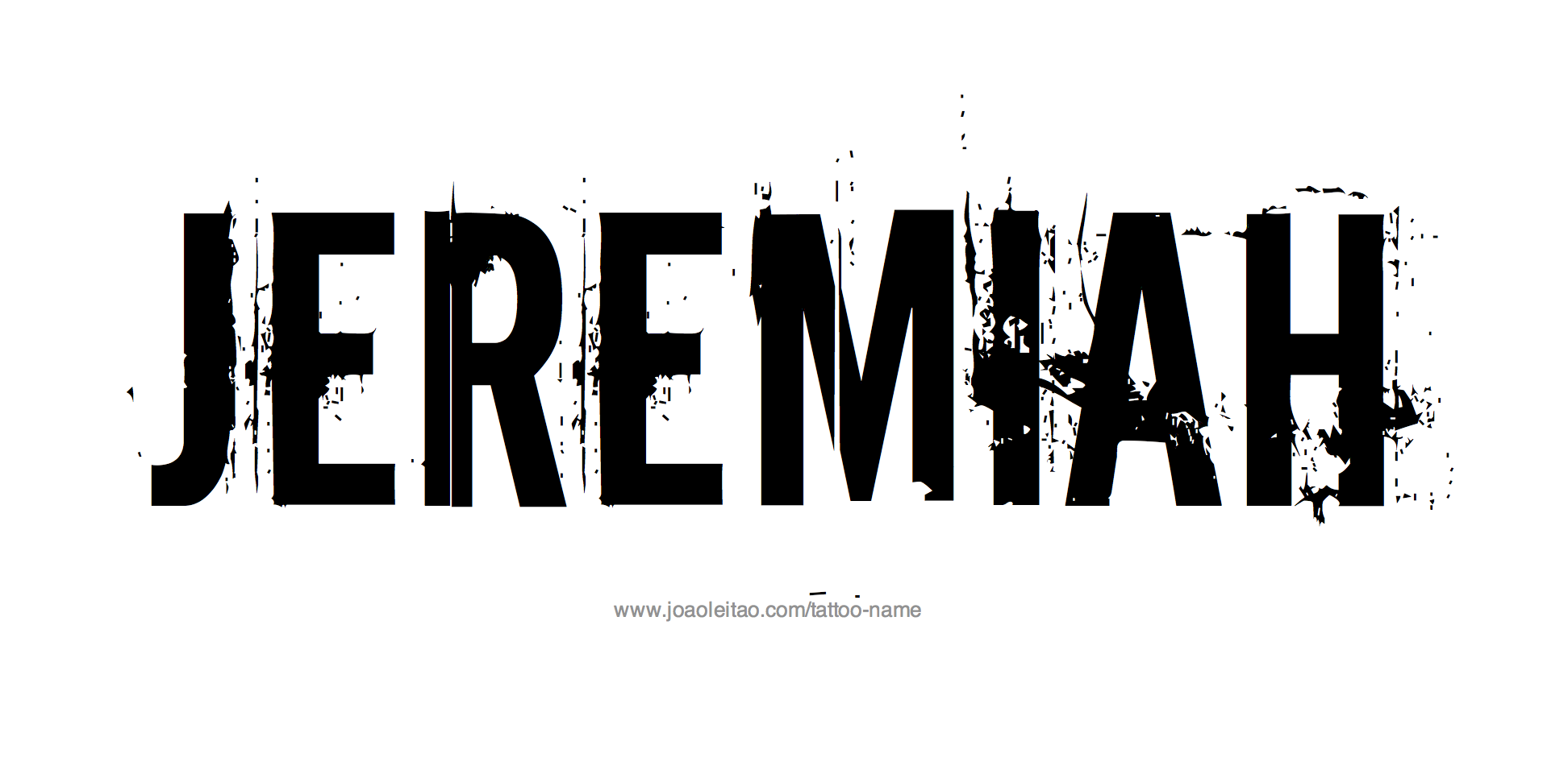 Jeremiah name tattoo designs